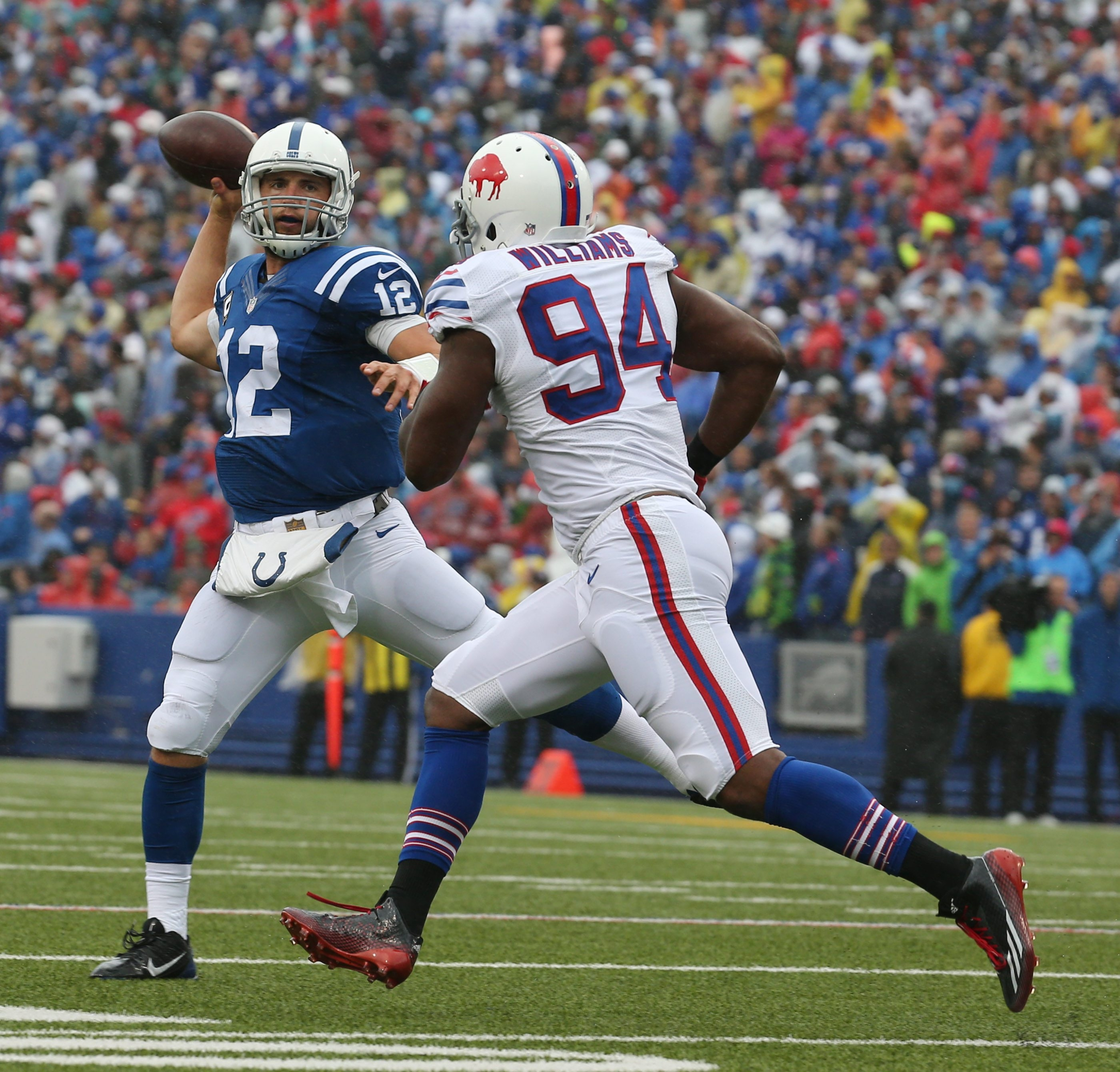 Parting ways with Mario Williams is one thing. Replacing him is another. (James P. McCoy/Buffalo News)