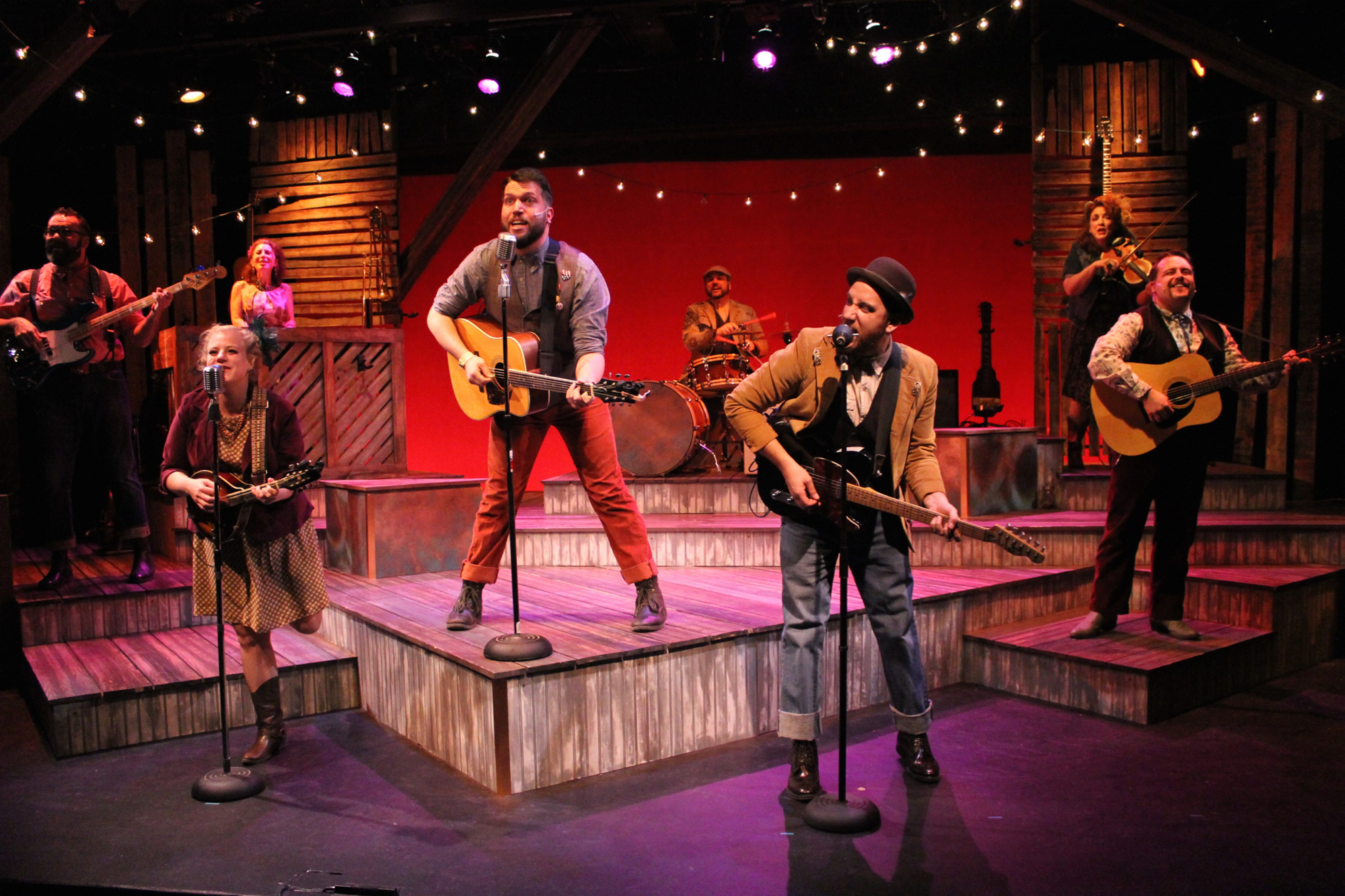"""""""Ring of Fire"""" is an energetic musical celebration of Johnny Cash now on stage at MusicalFare Theatre."""