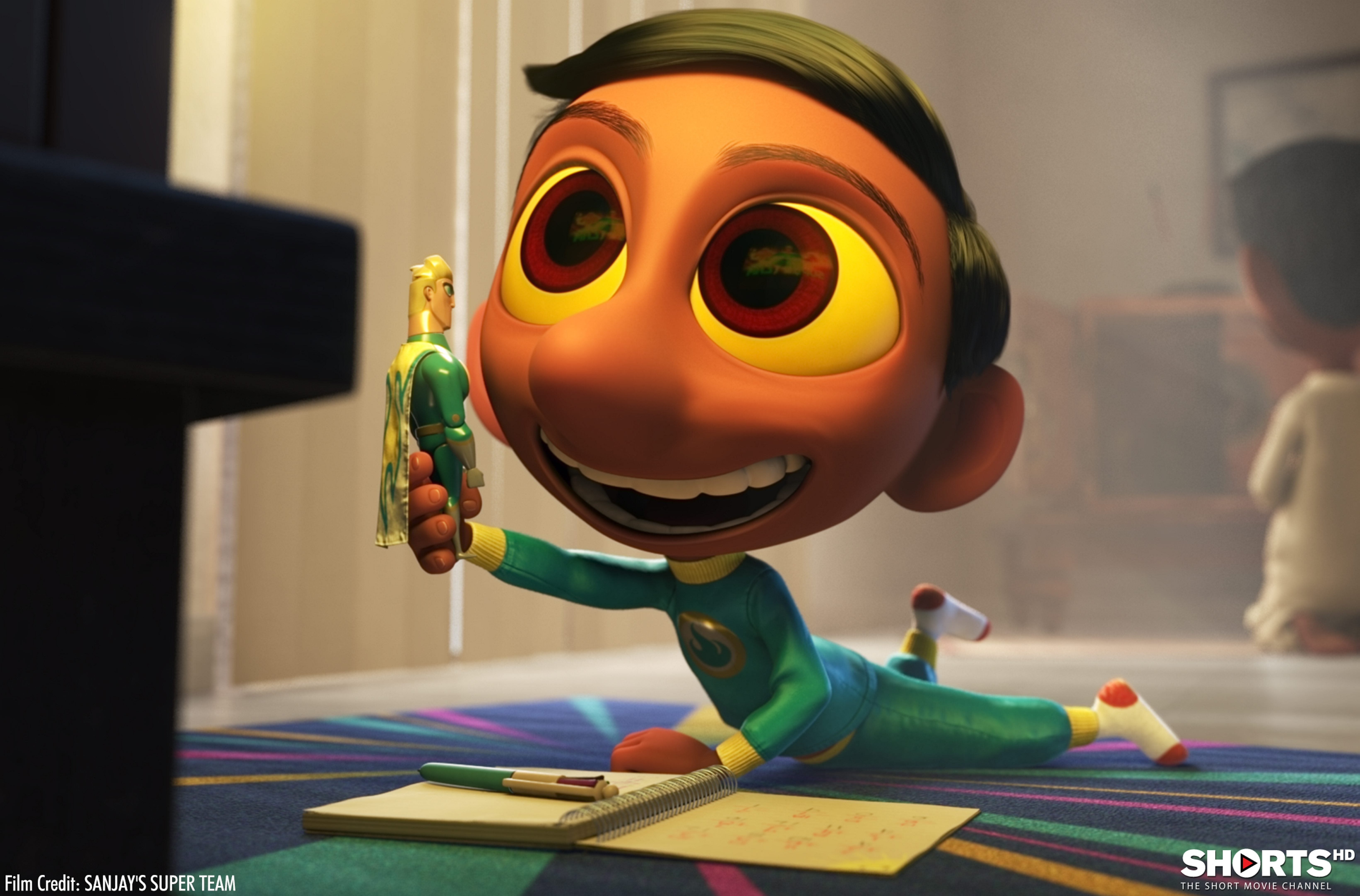 """Sanjay's Super Team"" is one of the short animated films nominated for an Oscar."
