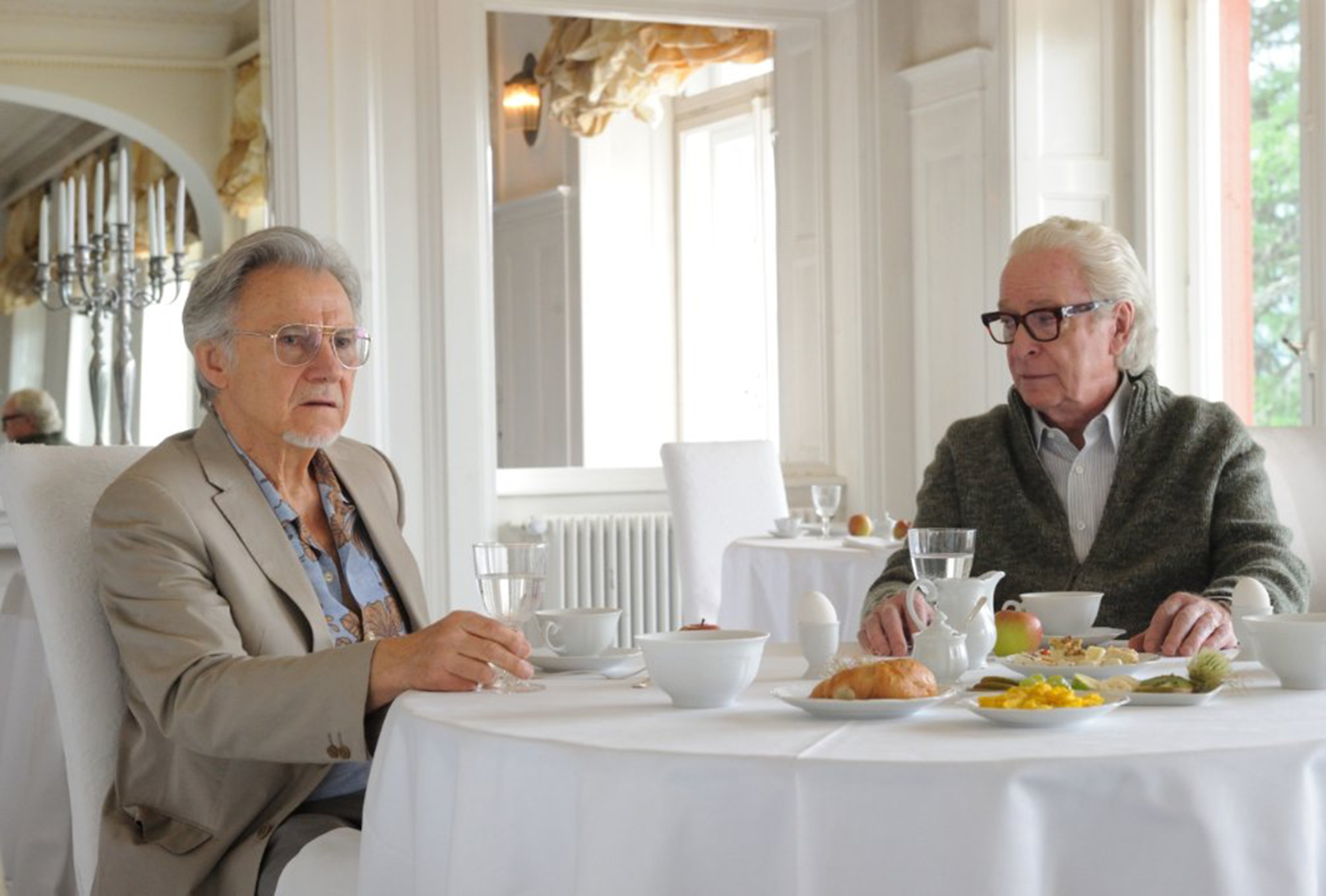 "Harvey Keitel, left, and Michael Caine star in ""Youth."""