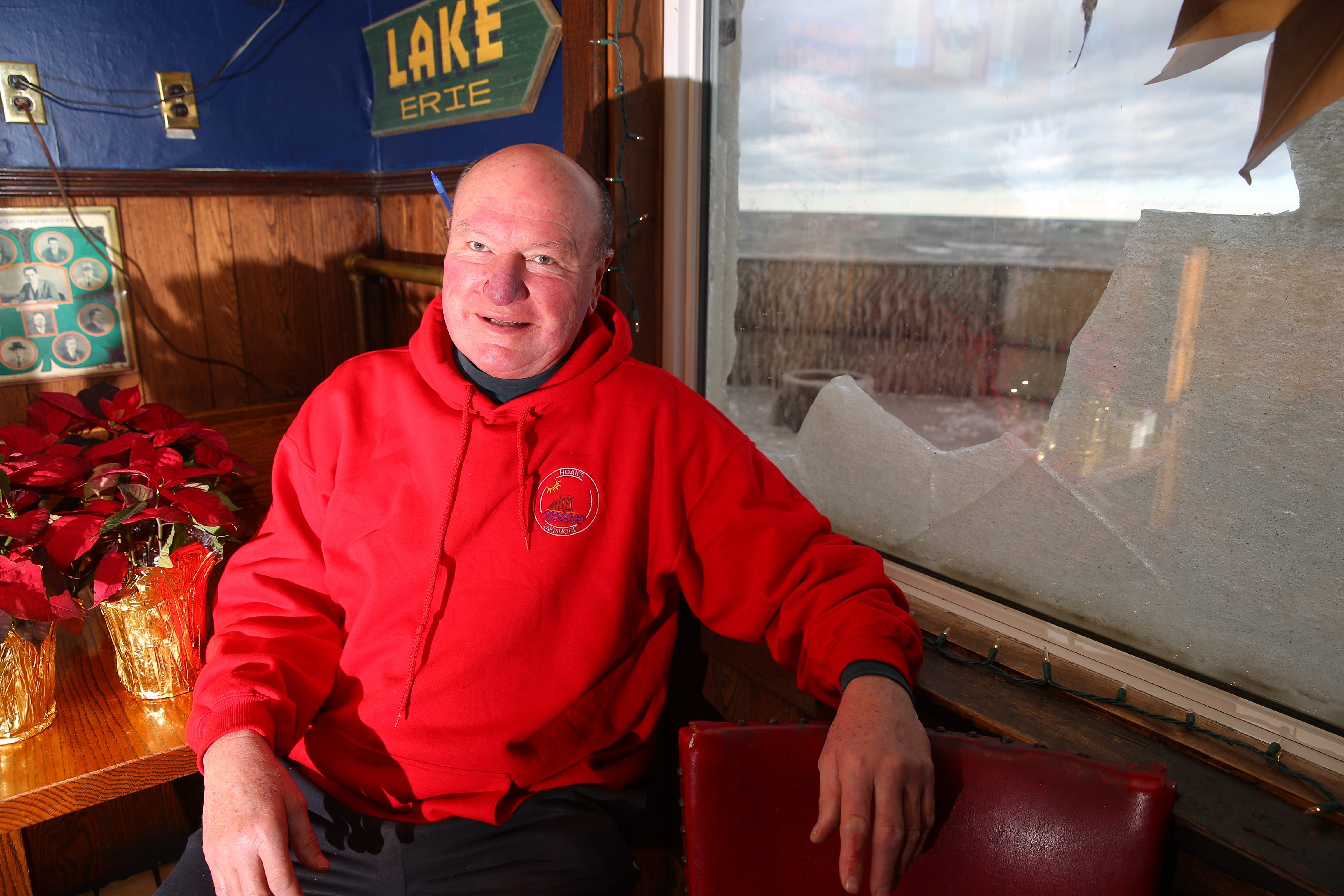 For Edward Hoak, owner of Hoak's restaurant in  Hamburg, bad weather can be the enemy of his business. He says he watches the weather closely while keeping an eye on his restaurant.