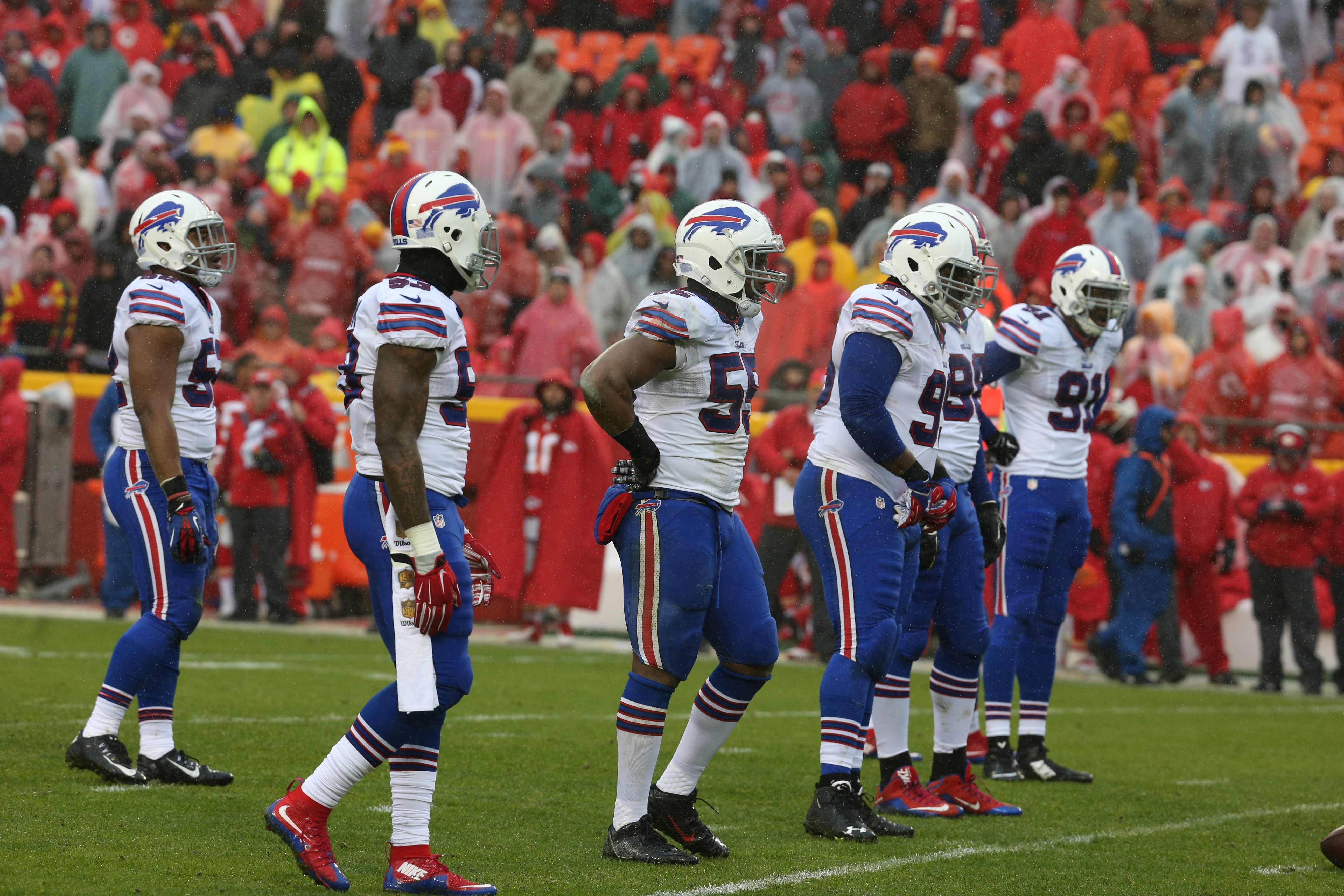Buffalo Bills defensive line went from being a strength to a surprising weakness.  (James P. McCoy/ Buffalo News)