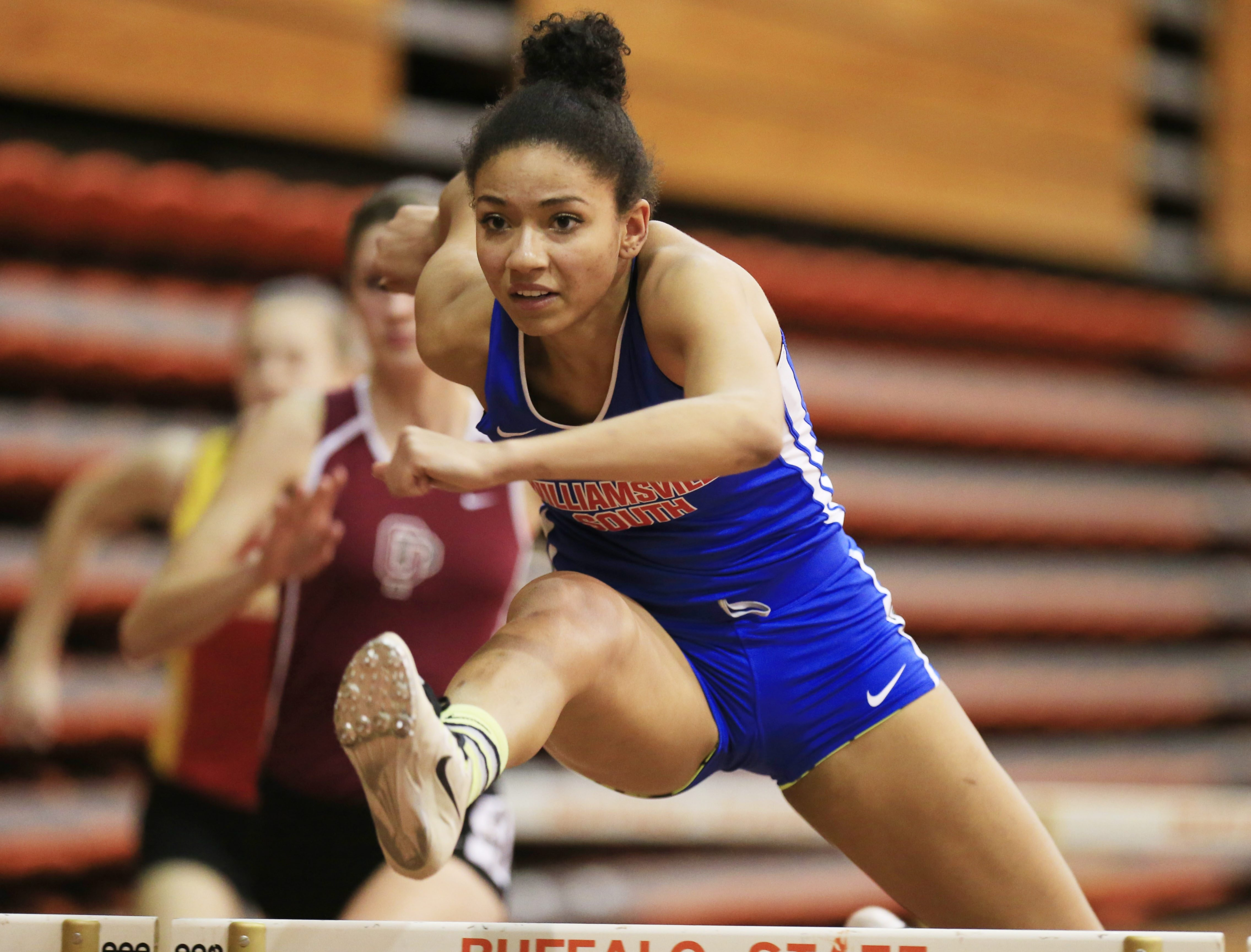 Alyssa Oviasogie of  Williamsville South went to states in the 55 hurdles and triple jump last season.
