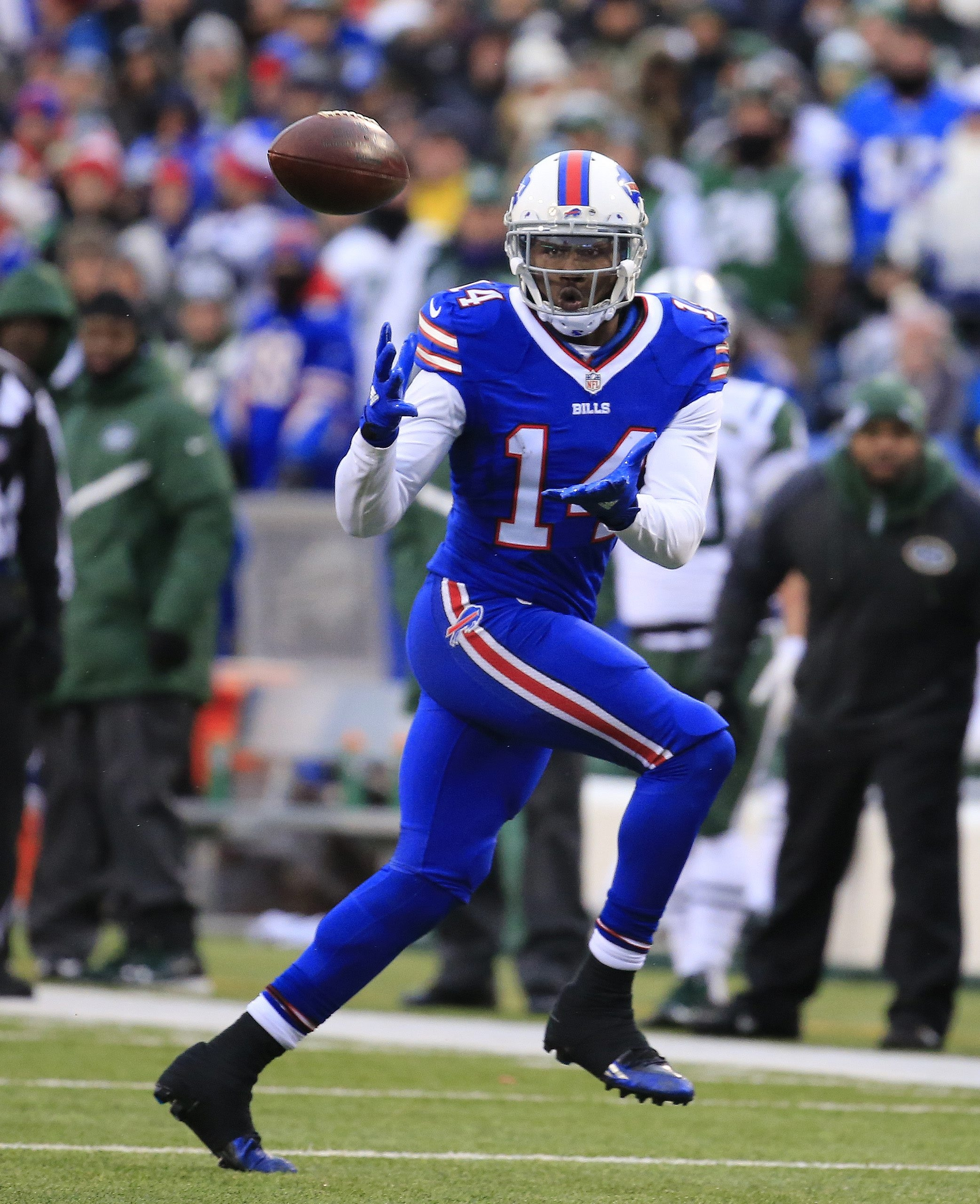 Sammy Watkins emerged in the second half of the season, leading the Bills with 60 receptions.