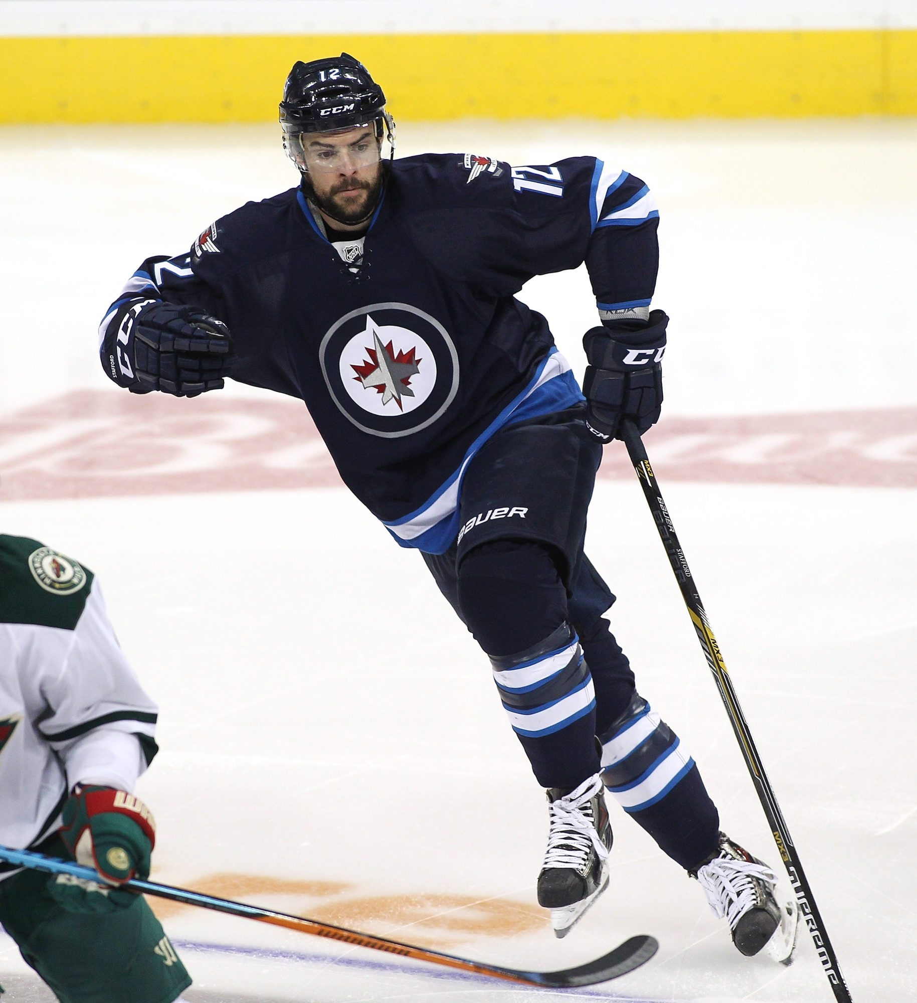 Former Sabre Drew Stafford is enjoying life with the Winnipeg Jets. He's tied for the team lead with 14 goals.