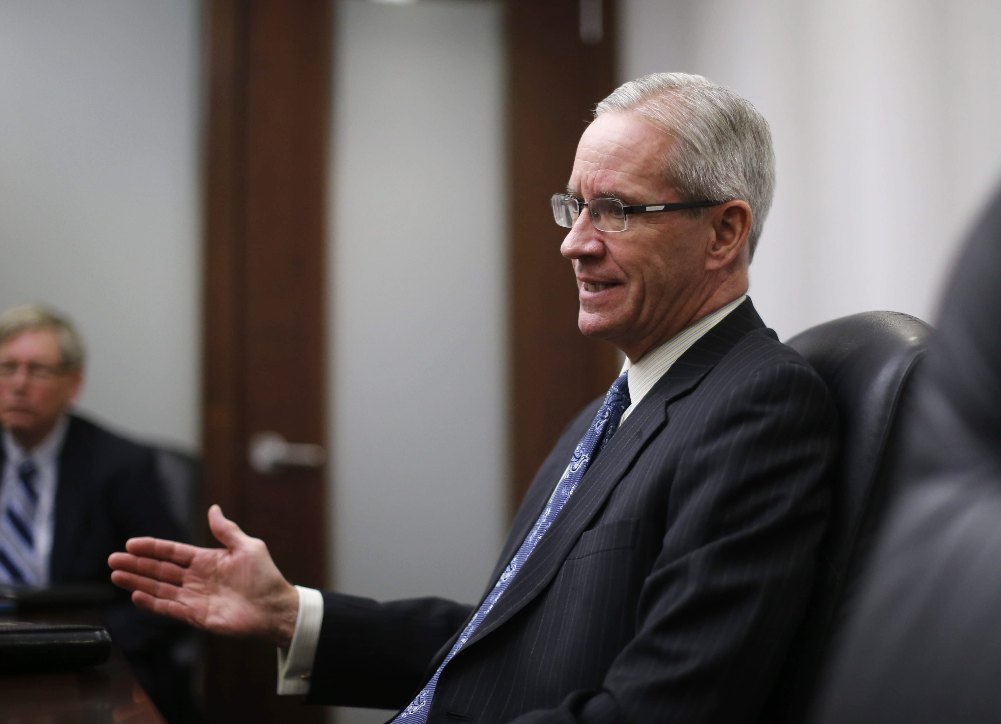 Daniel P. Forsyth, co-managing member of the Buffalo office for law firm Bond, Schoeneck and King, Monday, Jan. 4, 2016.  (Derek Gee/Buffalo News)