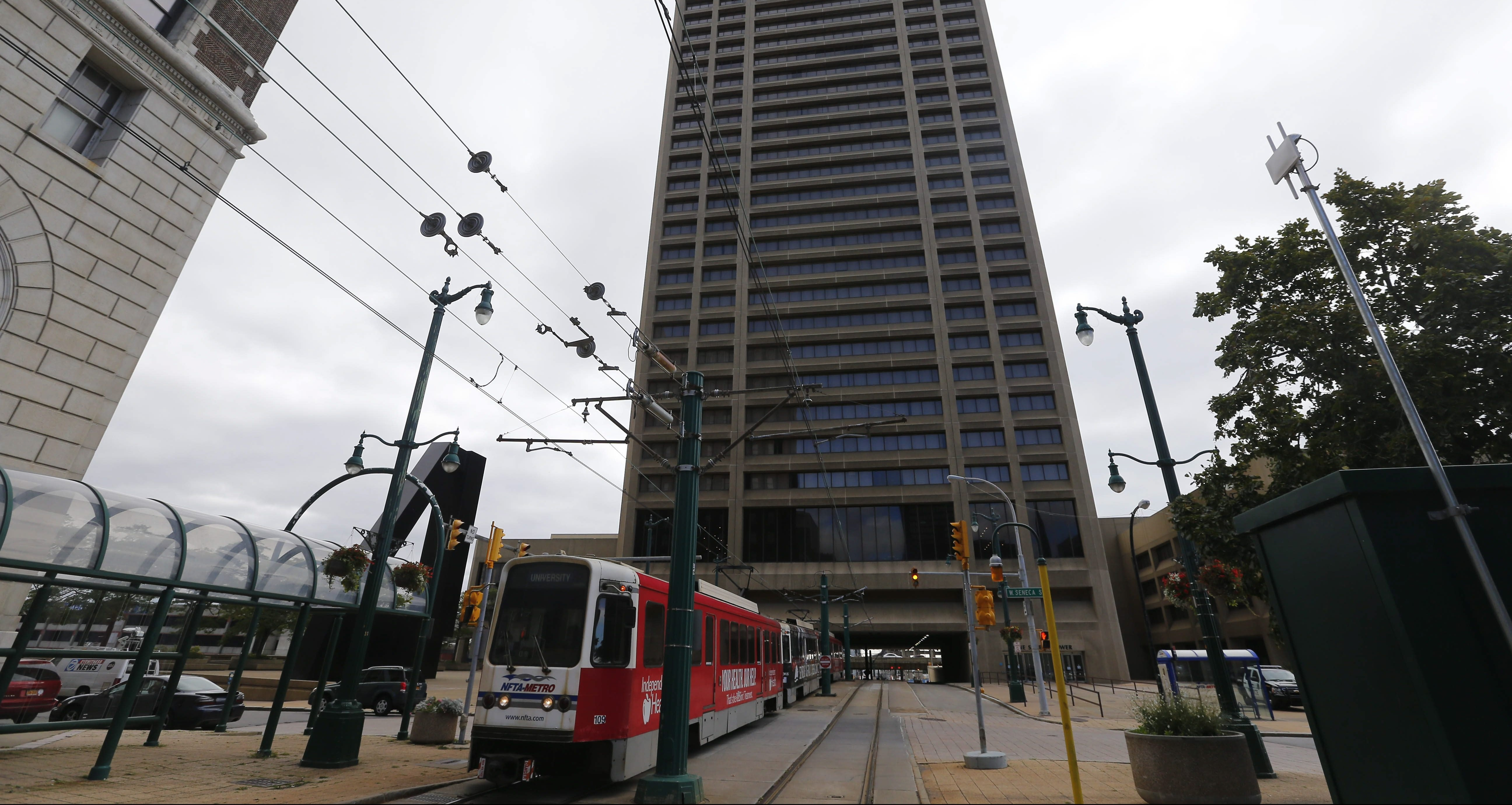 One Seneca Tower, now 95 percent vacant, most likely will be divided up into sections for redevelopment, perhaps including a high-end hotel, sky-high condos or luxury retail. But it won't be cheap or happen quickly and easily.