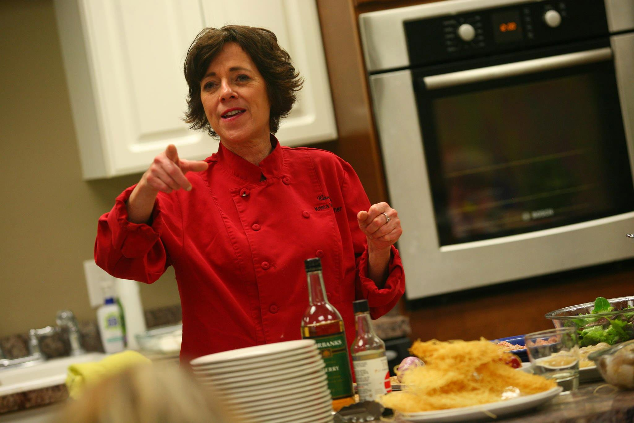 Chef Krista Van Wagner, former co-owner of Curly's, is teaching cooking classes and hawking jerk sauces.