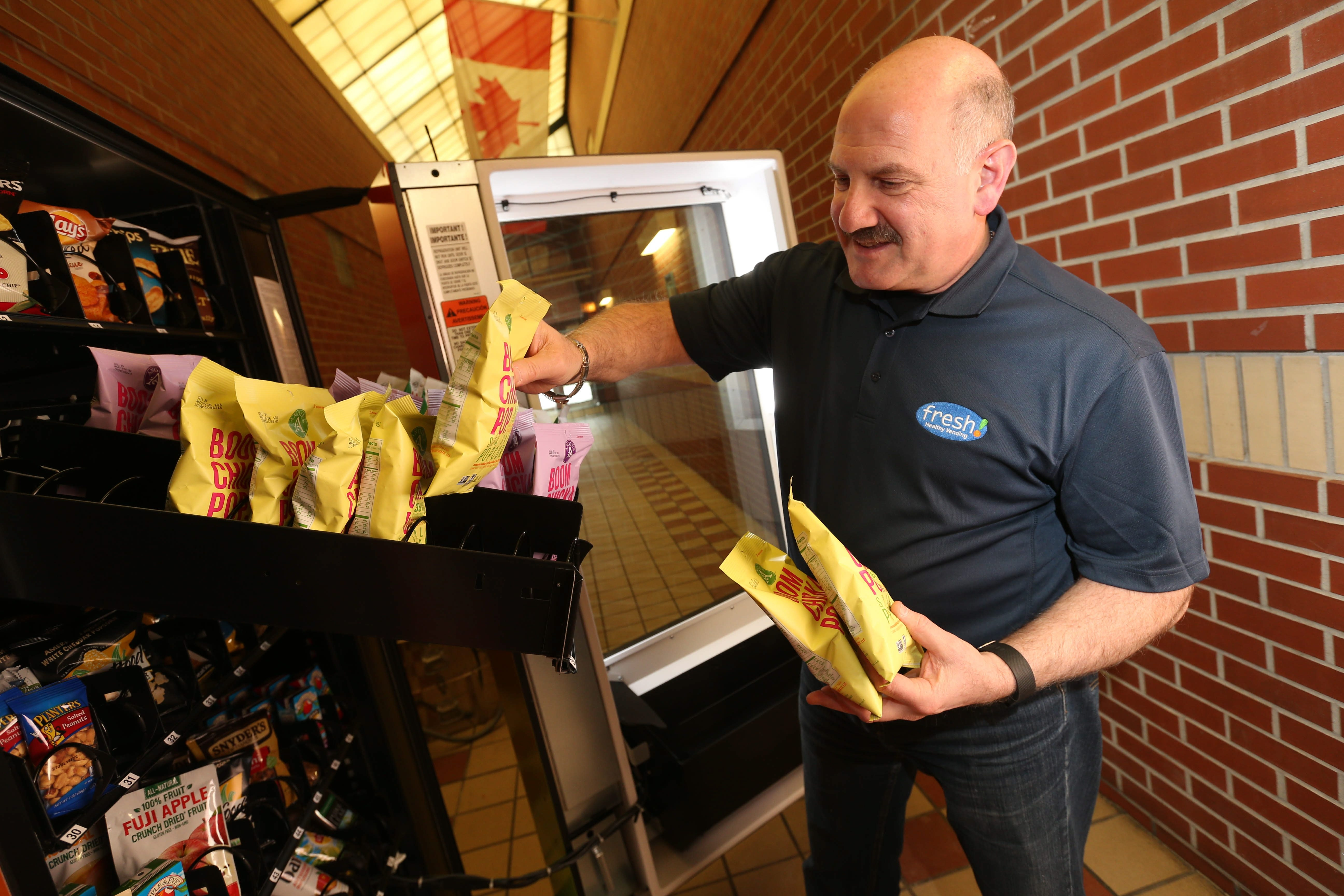 """If I eat one (candy bar) a day, that's 3 pounds a month. By the end of the year, I'm 35 pounds overweight. If I cut out that one candy bar a day and have something else, that's better."" – Michael Ficorilli, owner of Fresh Healthy Vending franchise in Western New York"