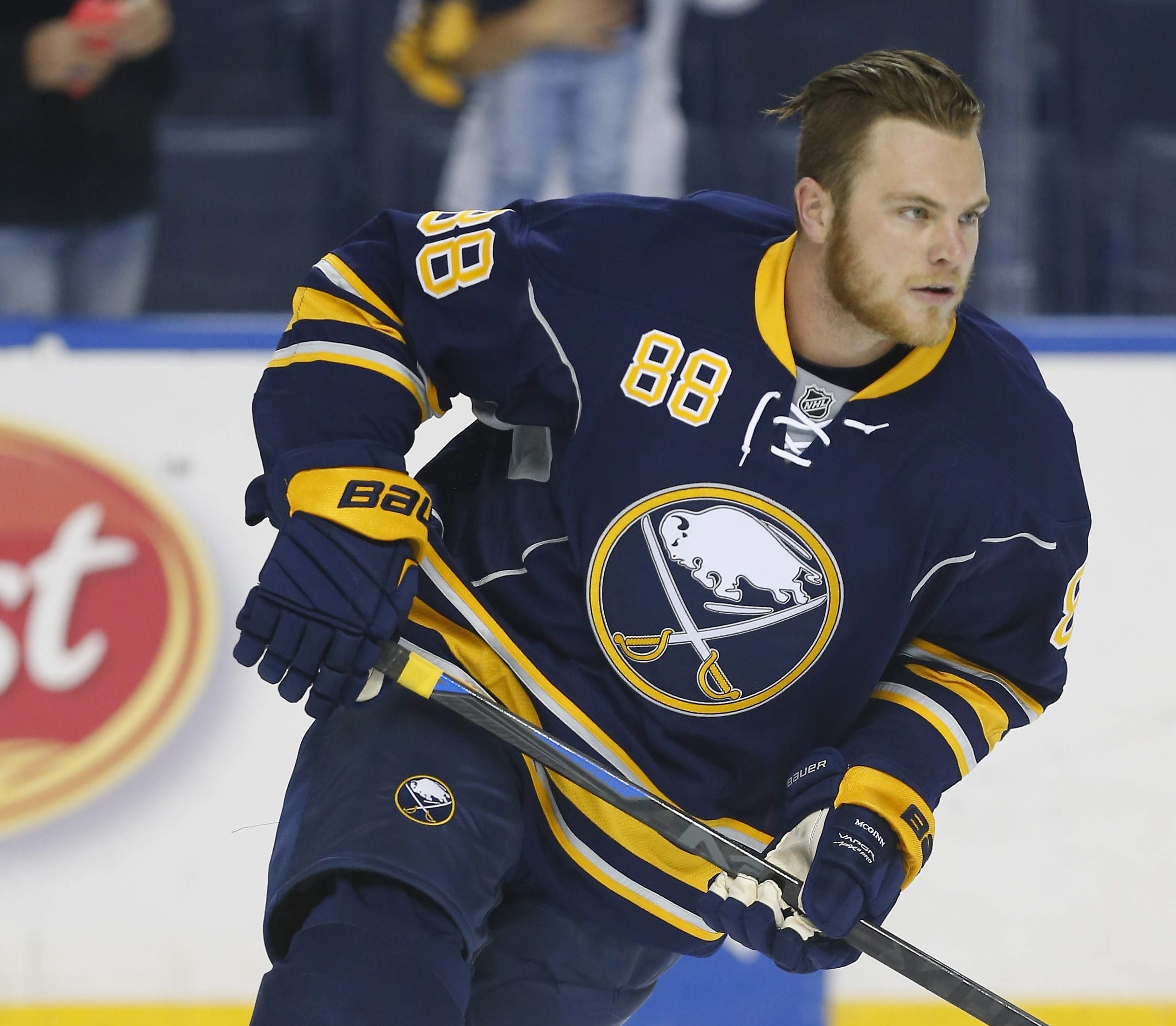 The Sabres are talking contract with Jamie McGinn (Harry Scull Jr./Buffalo News).