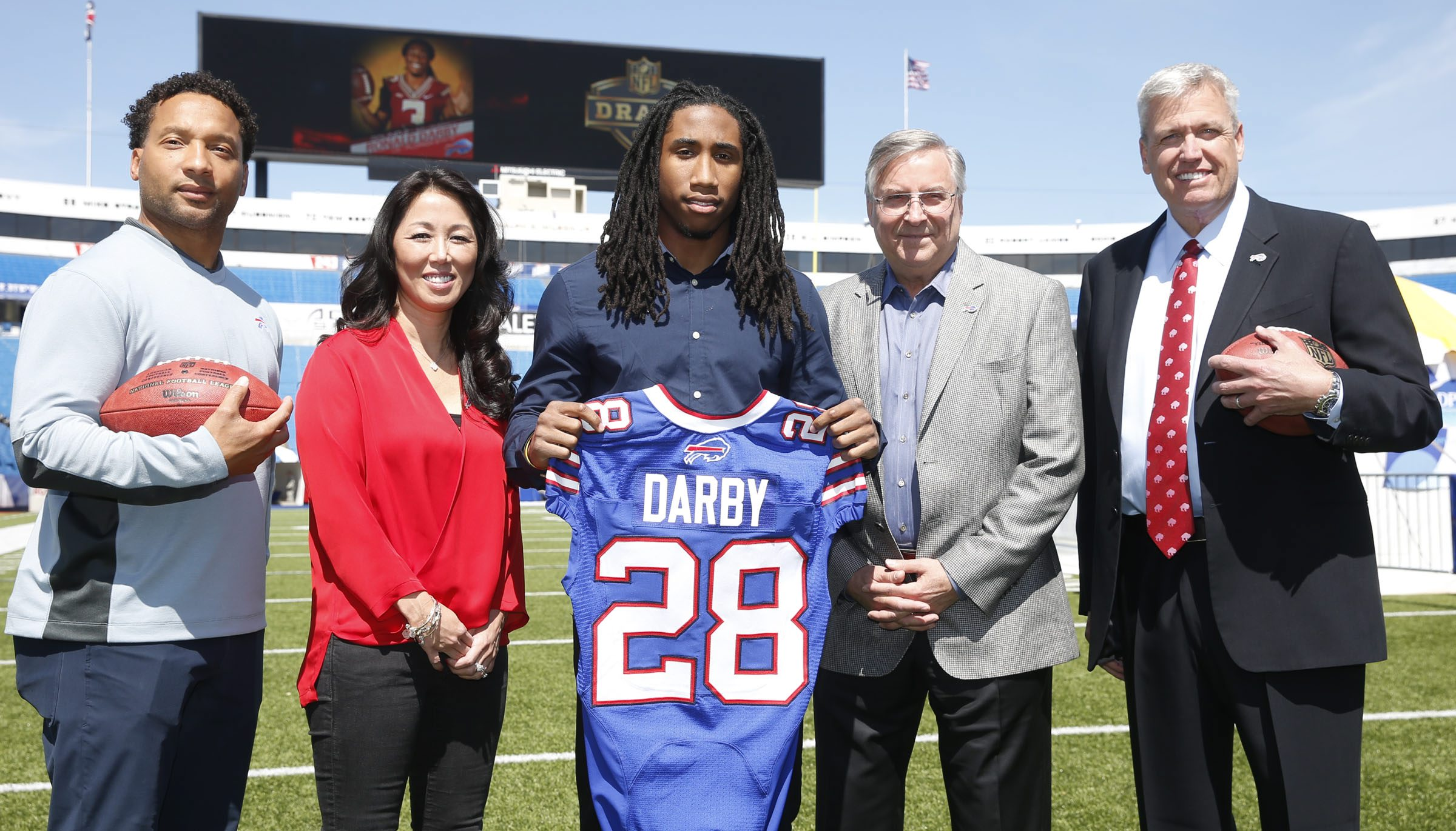 After putting in a standout rookie season, Ronald Darby has one of the contracts that the Bills -- and owners Terry and Kim Pegula, GM Doug Whaley and coach Rex Ryan -- have to be smiling about. (Harry Scull Jr./Buffalo News)