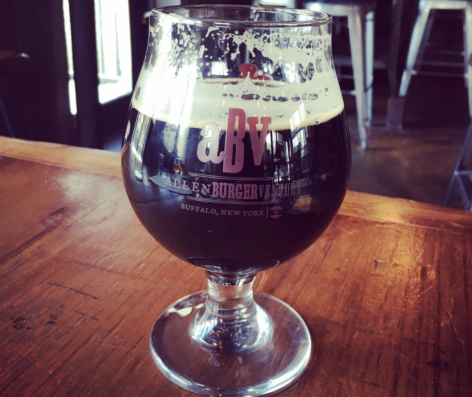 Ommegang's Lovely, Dark and Deep Stout is a taste of winter at Allentown's ABV.