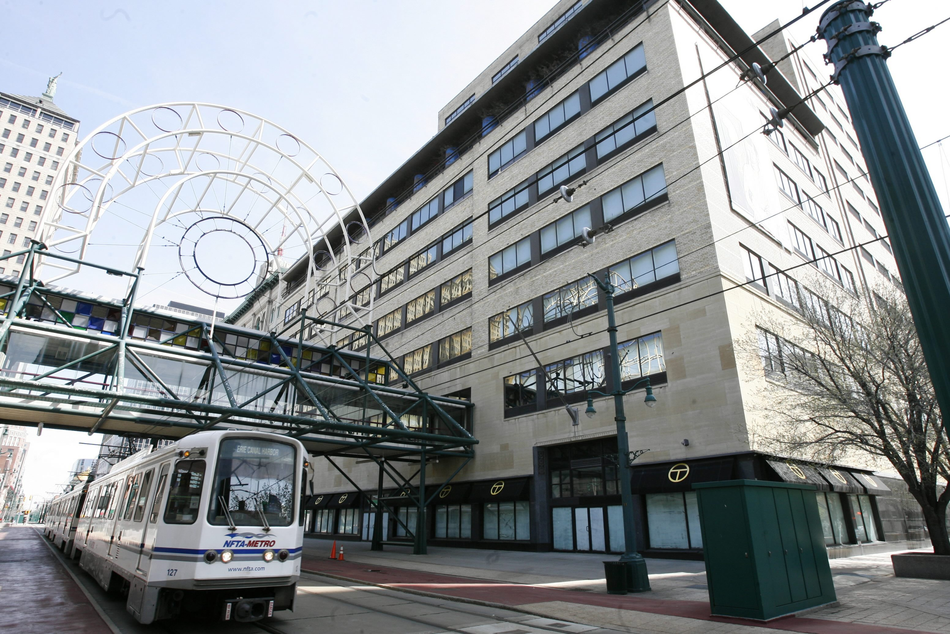 Downtown Buffalo is finally seeing signs of progress at the former AM&A's building. (Harry Scull Jr./Buffalo News)