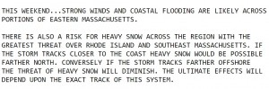 National Weather Service message from Thursday.