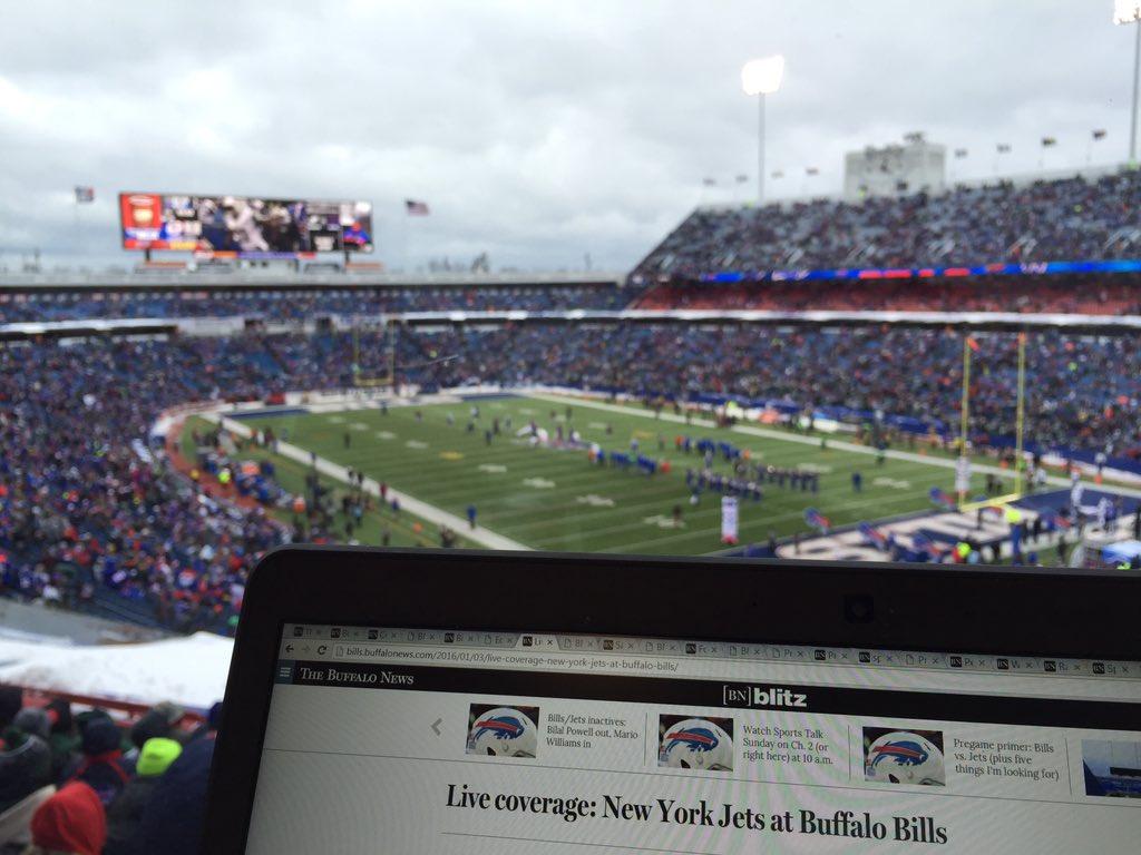 The view from the press box. (Keith McShea/Buffalo News)