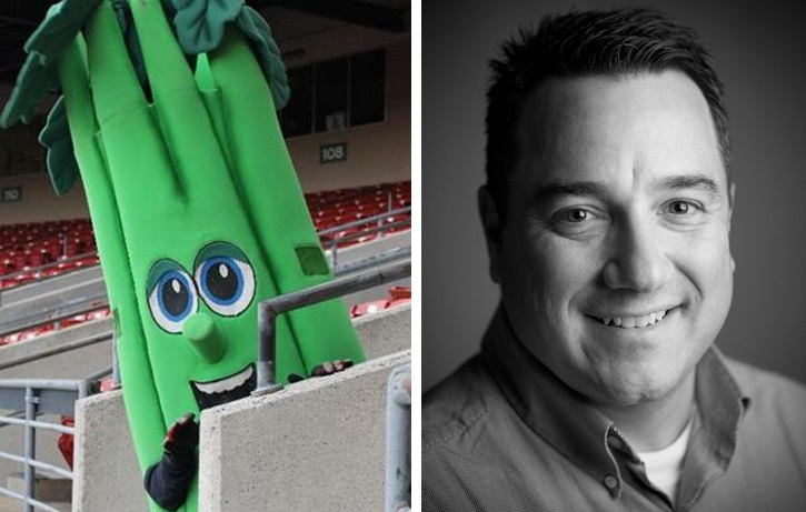 Celery, a mascot for the Buffalo Bisons, may have found its calling by beating Bucky Gleason in last weekend's NFL picks.