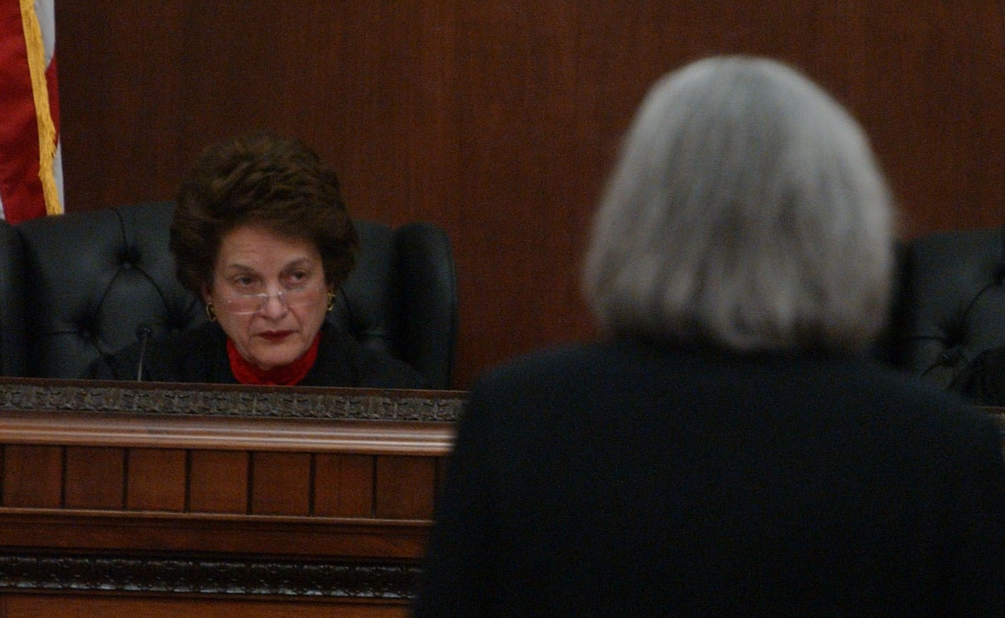 Court of Appeals Chief Judge Judith Kaye  was photographed during a rare court session held at Erie County Hall.  (News file photo)