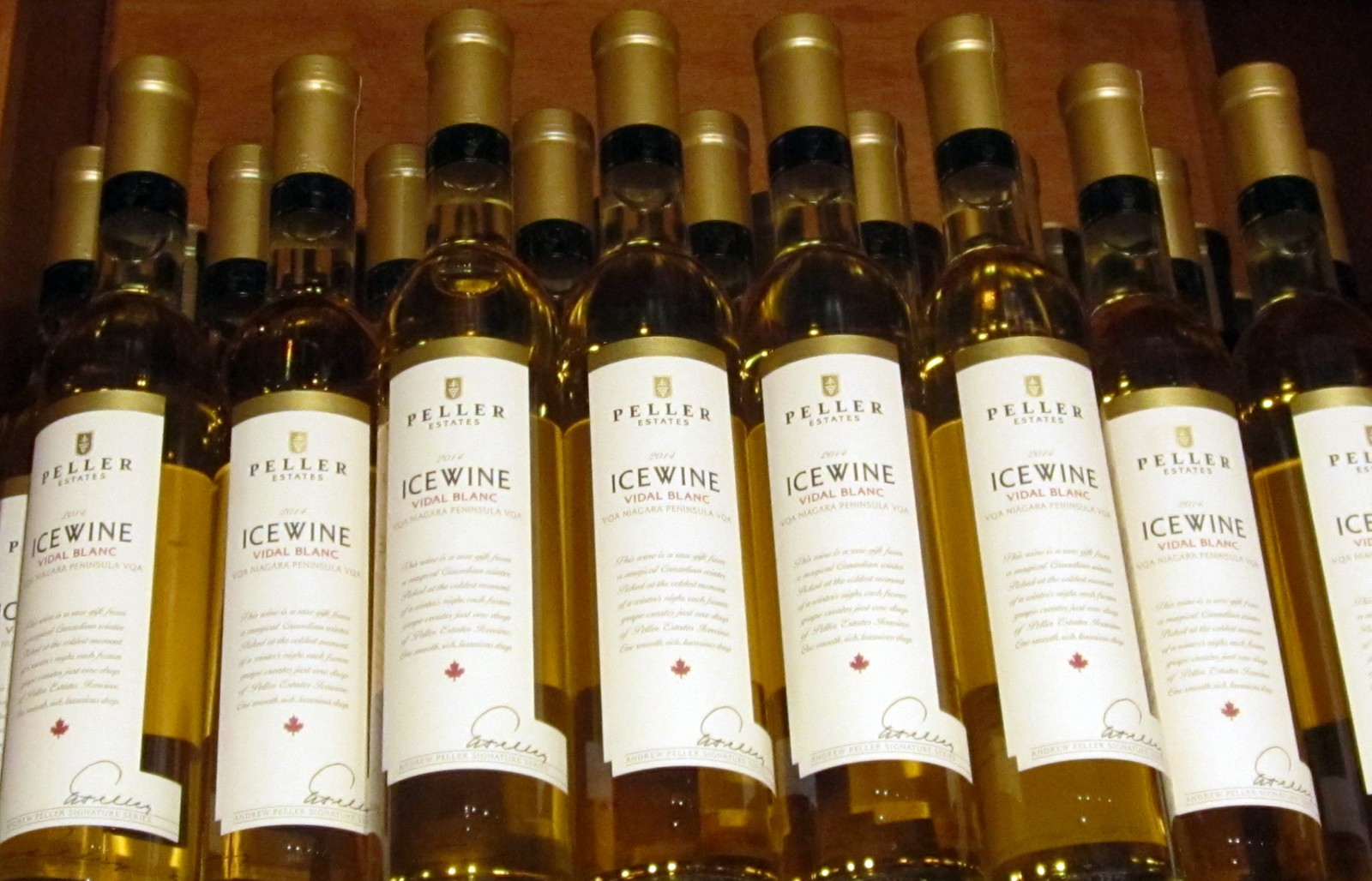 Bottles of wine from Peller Estate. (Emeri Krawczyk/Special to The News)
