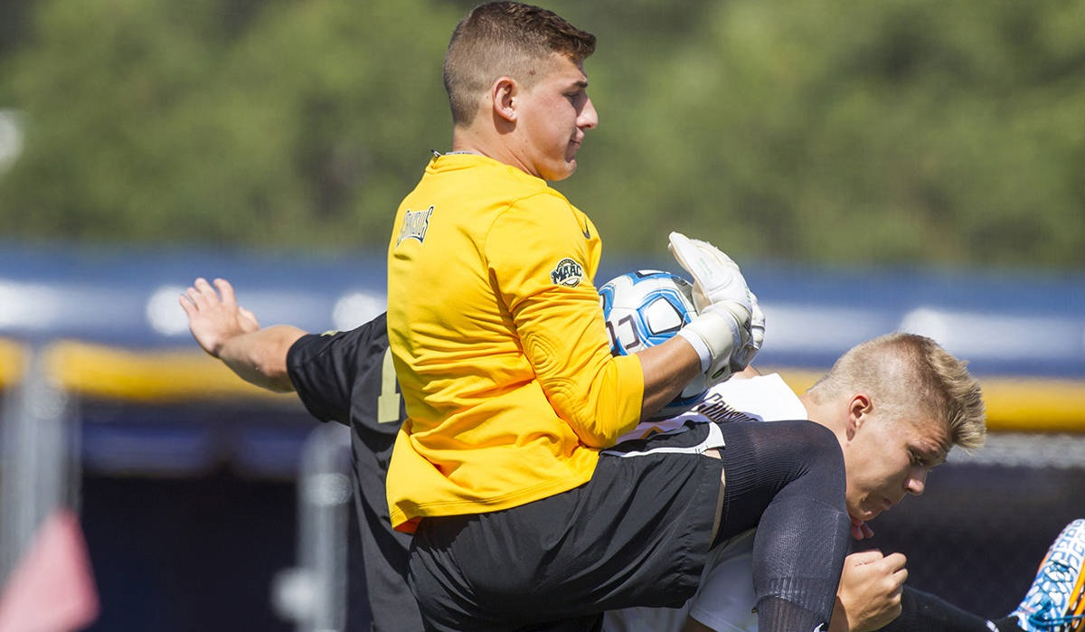 Former Canisius and FC Buffalo goalkeeper Andrew Coughlin joined the 'Football Club of Buffalo Show' by phone. (via Canisius College)