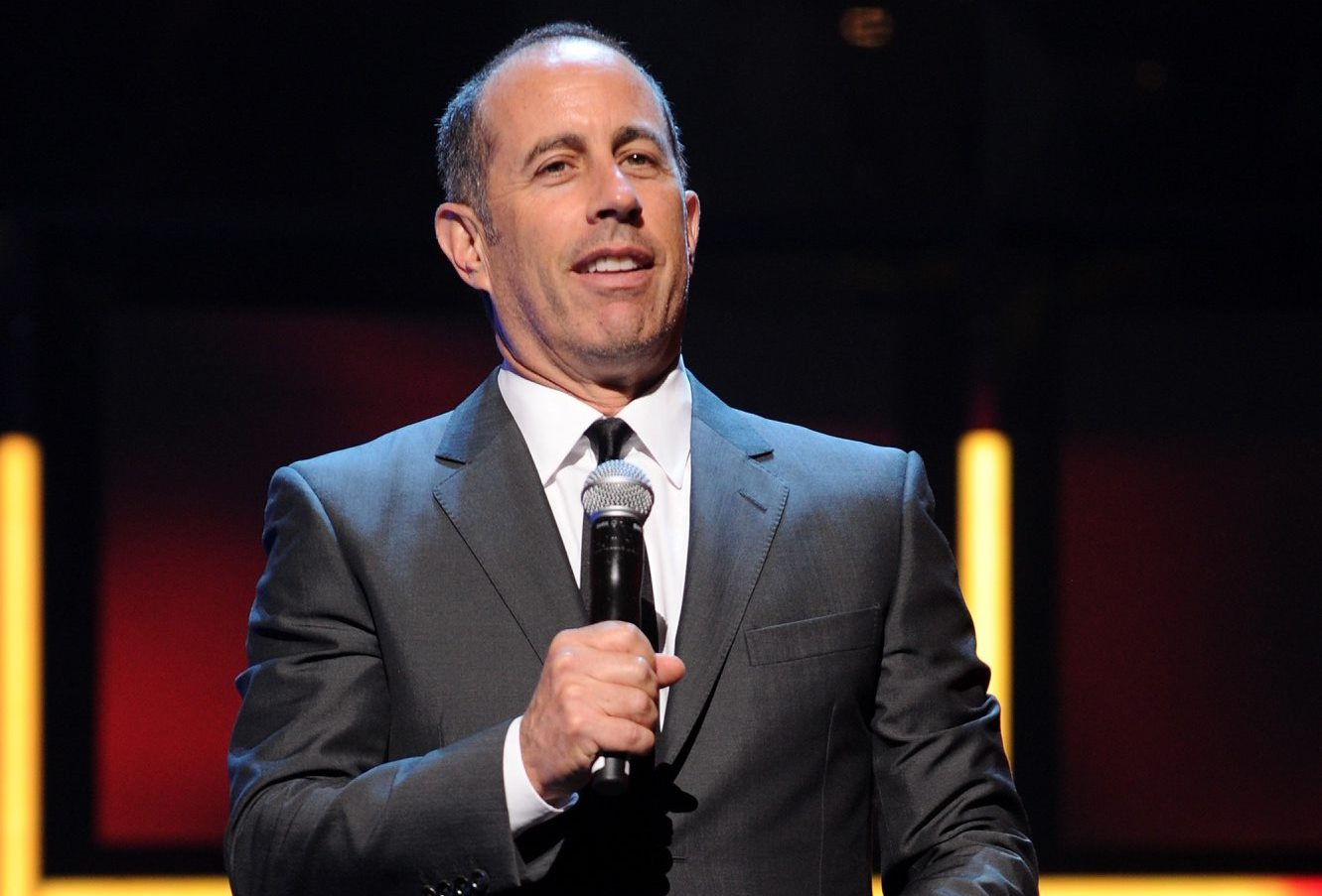 Jerry Seinfeld speaks onstage at the 2015 Hulu Upfront Presentation at Hammerstein Ballroom on April 29, 2015, in New York City. (Getty Images)