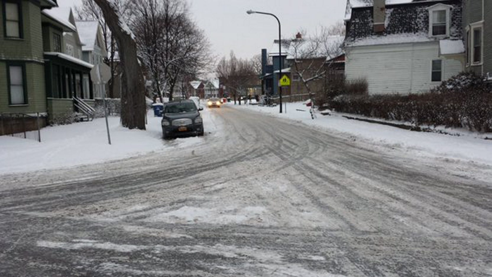 The streets in Allentown on Thursday morning. (Buffalo News)