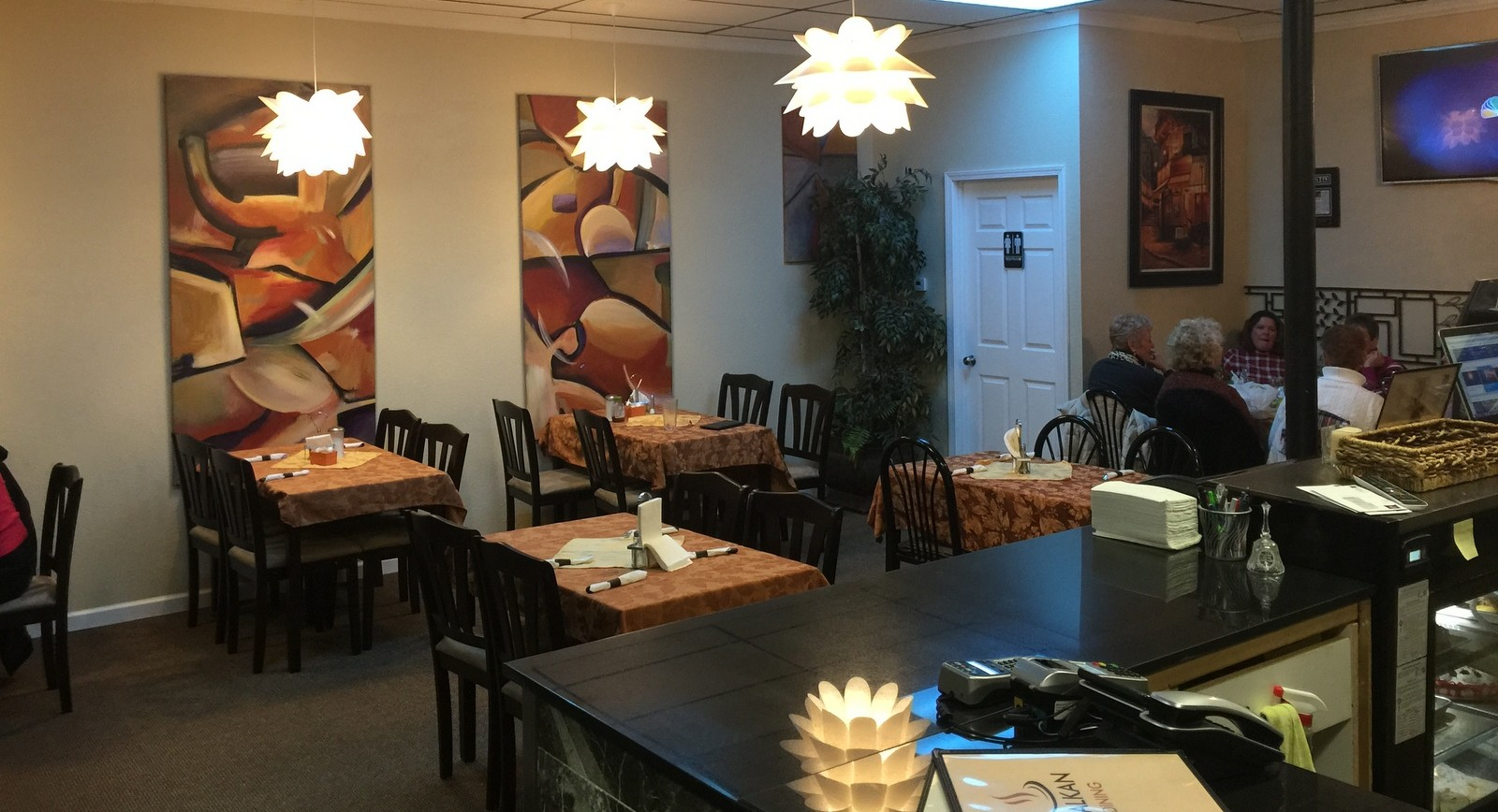 Balkan Dining's renovation has added two tables, and a bathroom. (Andrew Galarneau/Buffalo News)