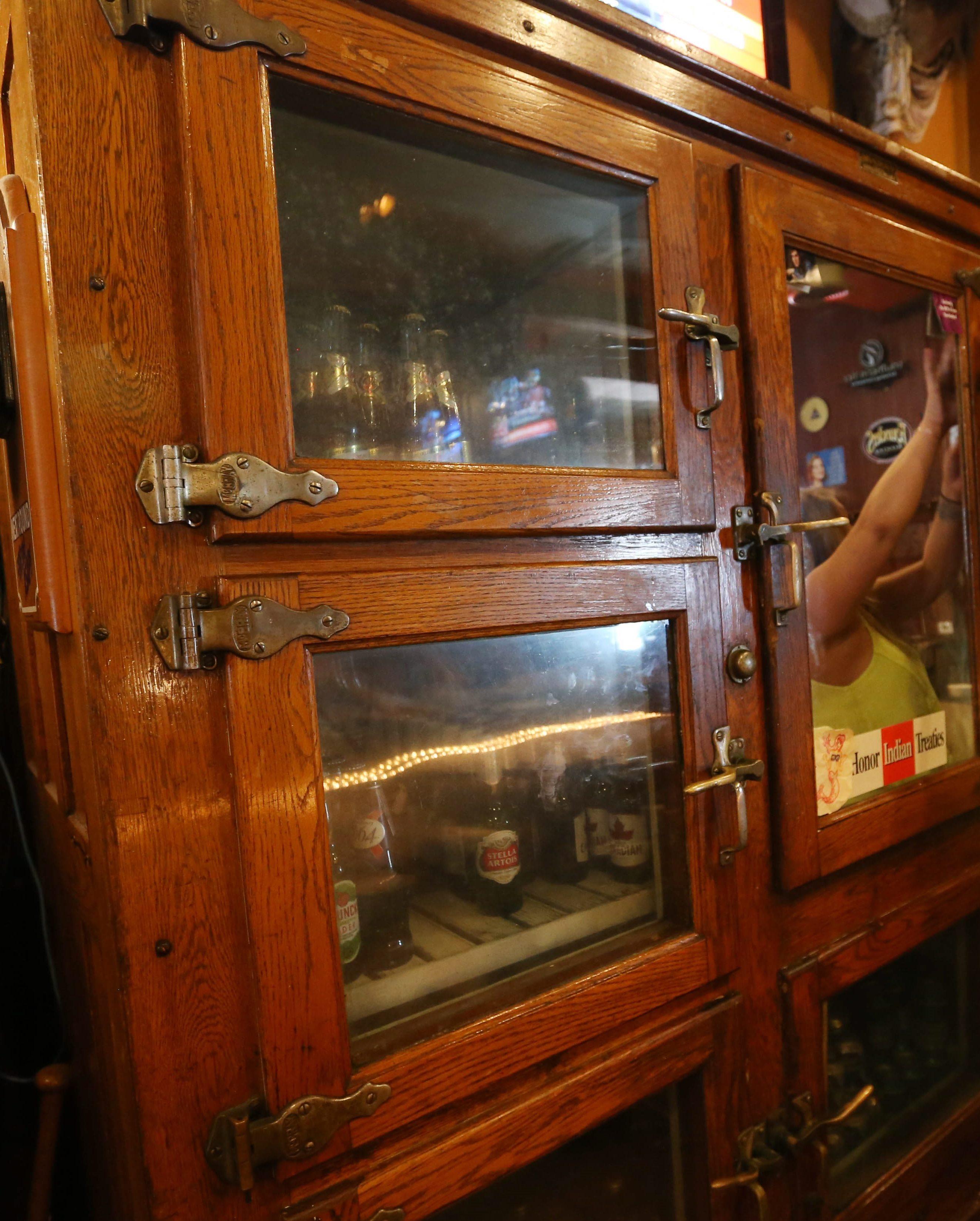 1920s-era cooler at Century Grill. (Sharon Cantillon/Buffalo News)