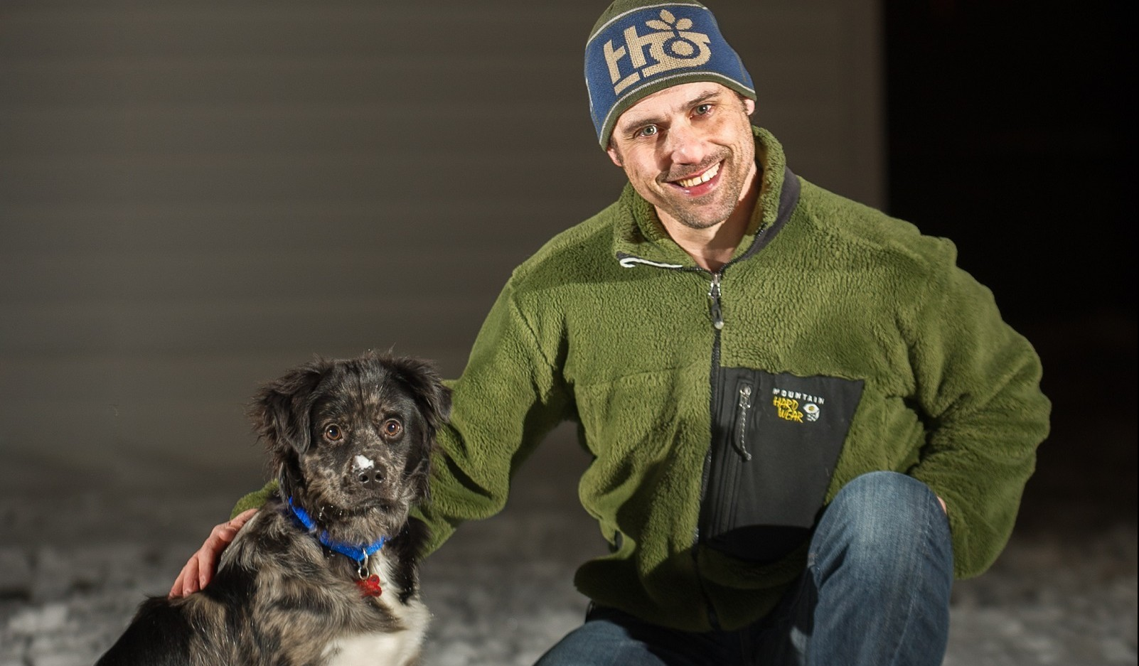 Aaron Ingrao, right, with his dog, Luke. (Aaron Ingrao)