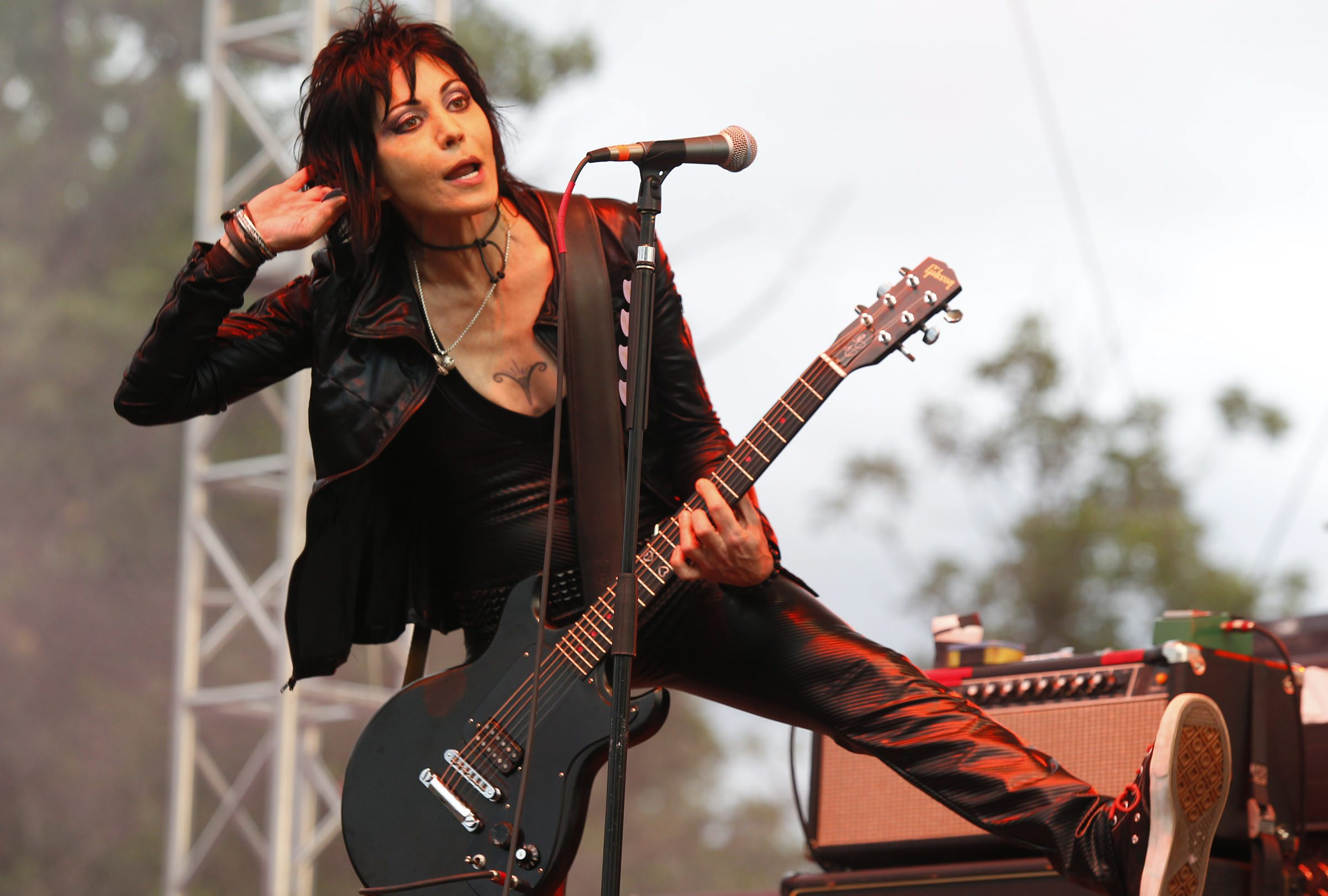 Joan Jett will perform at the Darien Lake Performing Arts Center as part of the 'Rock Hall Three for All.' (Photo by Harry Scull Jr. / Buffalo News file photo)
