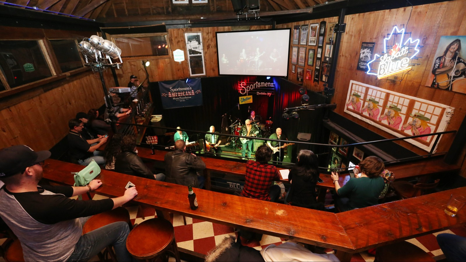 Buffalo Blues band, The Electras, brought out a good crowd to the Sportsmen's Tavern, Thursday, March 12, 2015. (Sharon Cantillon/Buffalo News)