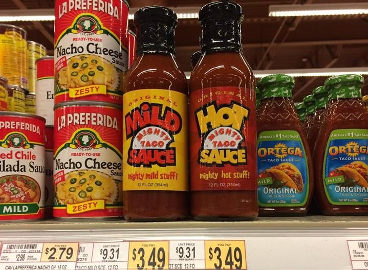 Mighty Taco announced Wednesday on social media that the restaurant's hot sauce will now be sold individually in grocery stores.
