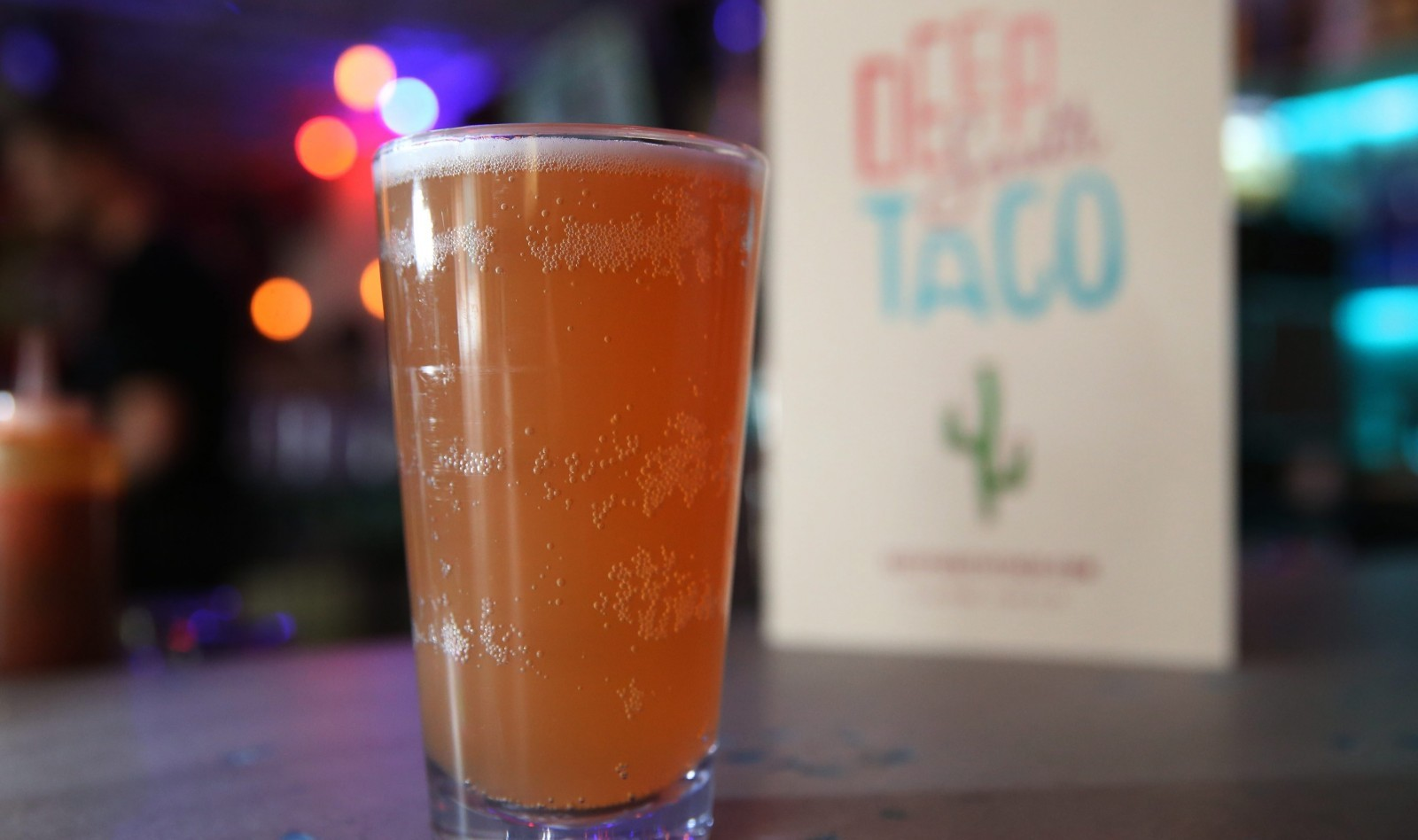 Abita Purple Haze goes great with the Mexican fare at Deep South Taco. (Sharon Cantillon/Buffalo News)