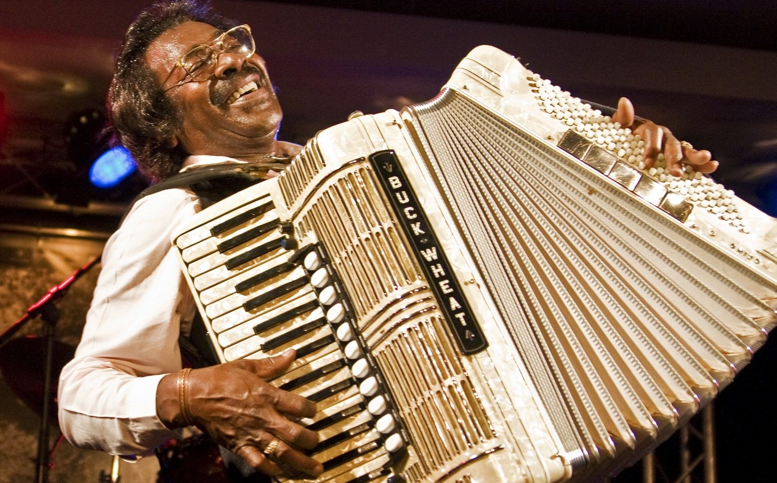 "Stanley ""Buckwheat"" Dural Jr. leads Buckwheat Zydeco, which will perform Saturday in Buffalo Iron Works."