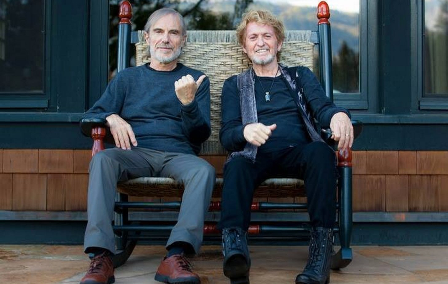 Jean Luc Ponty (left) and Jon Anderson (right) will bring their Anderson Ponty Band to the Riviera Theatre on May 17.