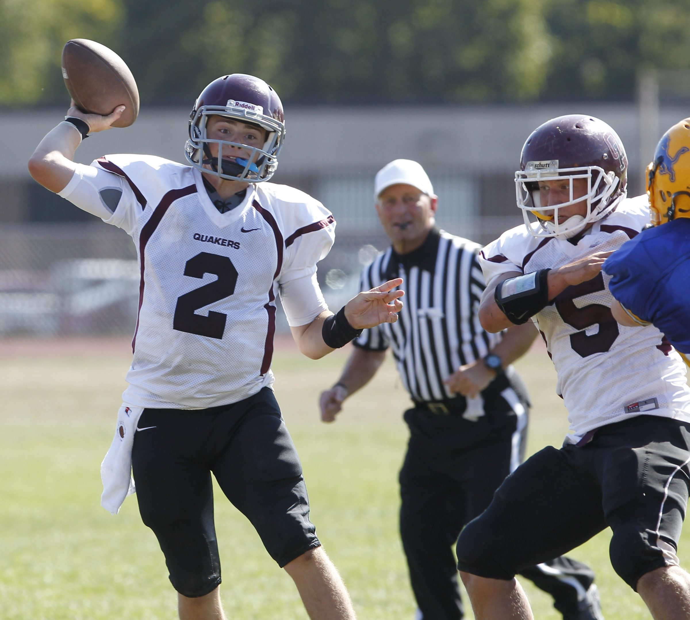 Ben Holmes, who moved to quarterback as a senior, helped lead Orchard Park to a New York State Public High School Class AA title in 2011.