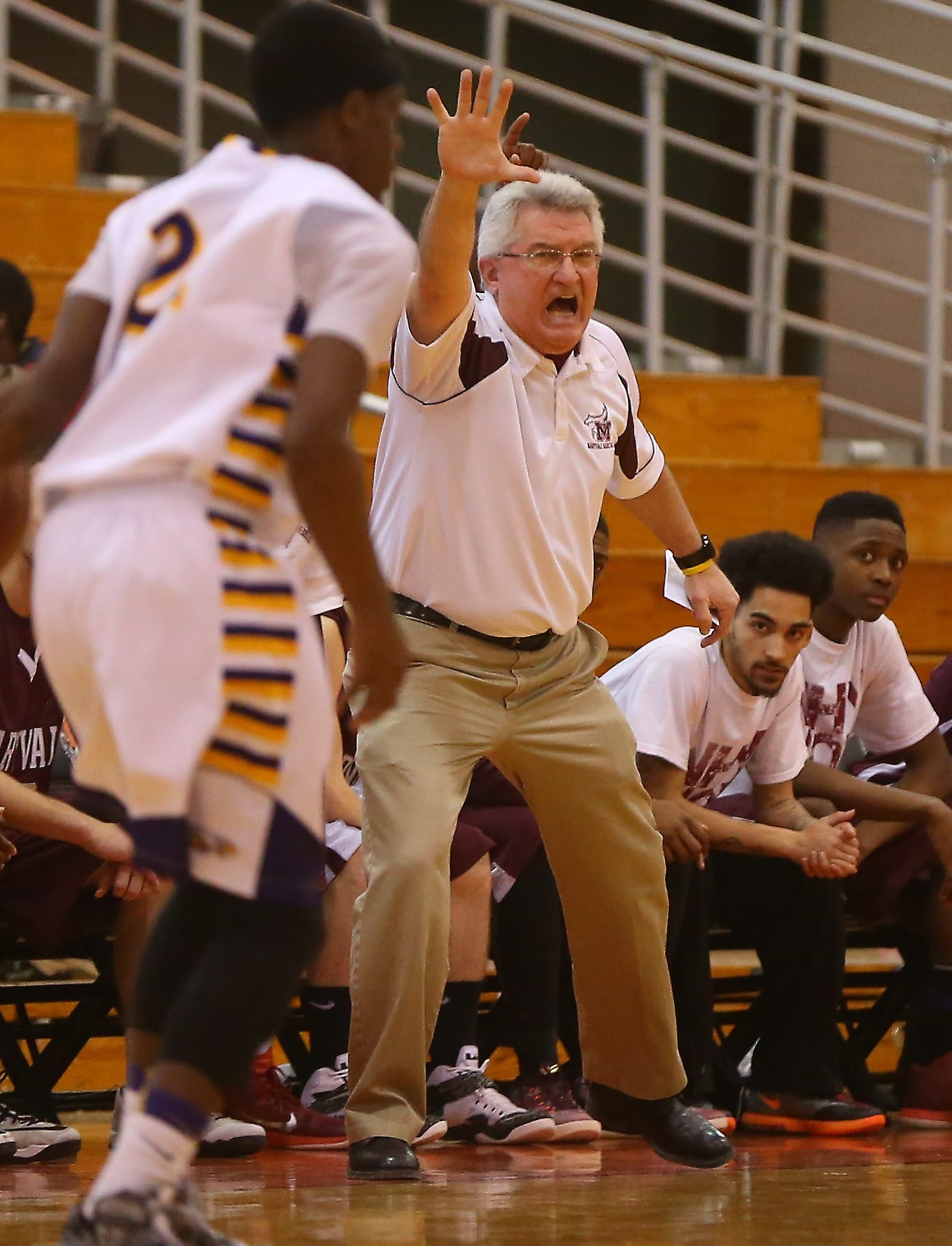 Maryvale's Mark Kensy could very well be coaching against his son Chris, who coaches Amherst, in the Section VI Class A-2 semifinals. Sectional basketball pairings on Page B11.