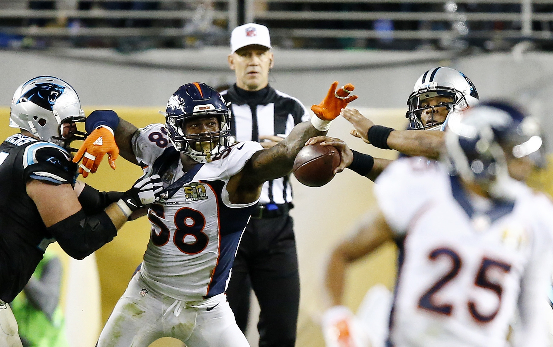 Von Miller's three shot-out-of-a-cannon rushes will represent Super Bowl 50 for decades.