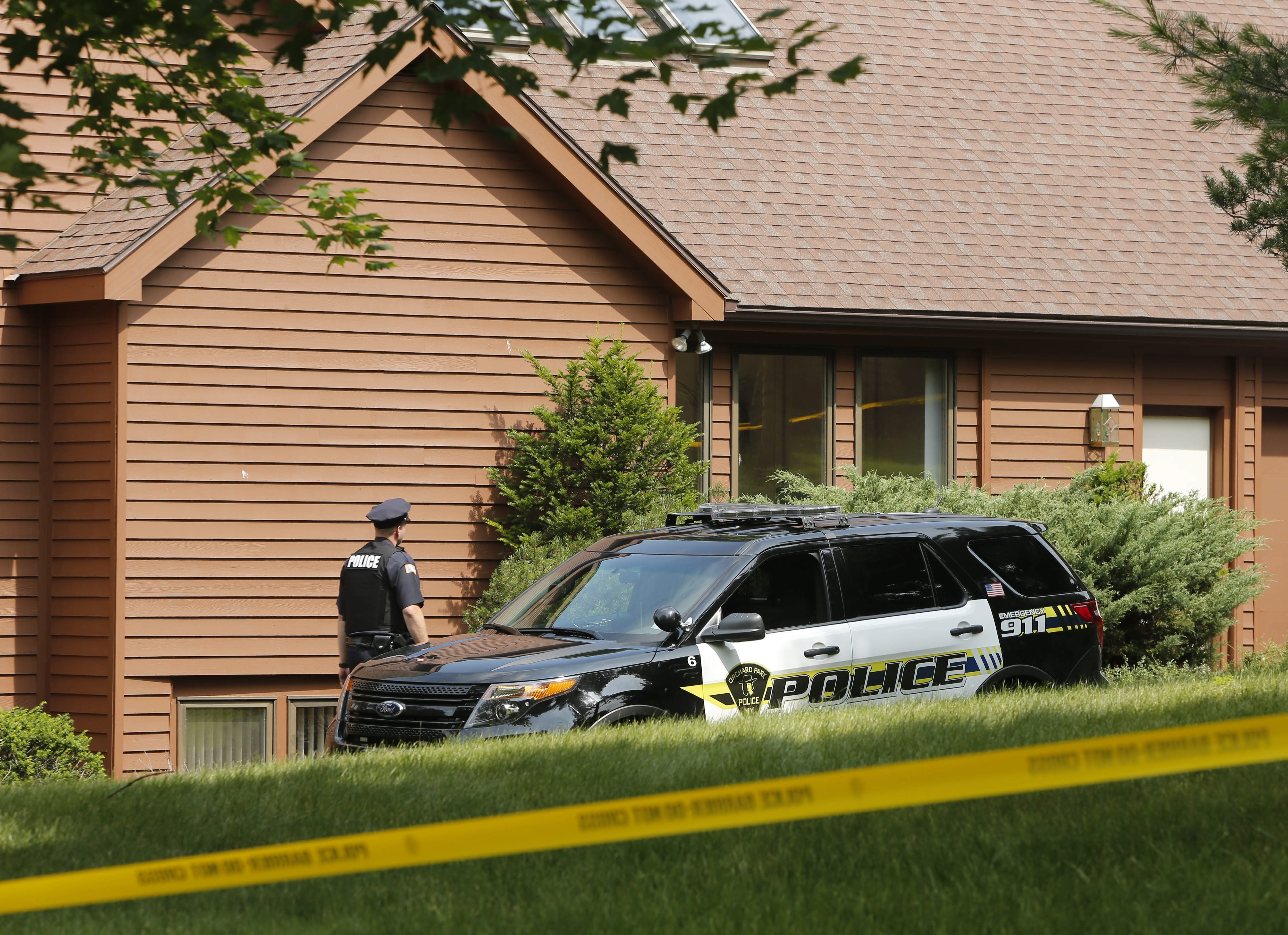 The house on Hillsboro Drive in Orchard Park where a 21-year-old man killed his 70-year-old father.  Derek Gee/Buffalo News