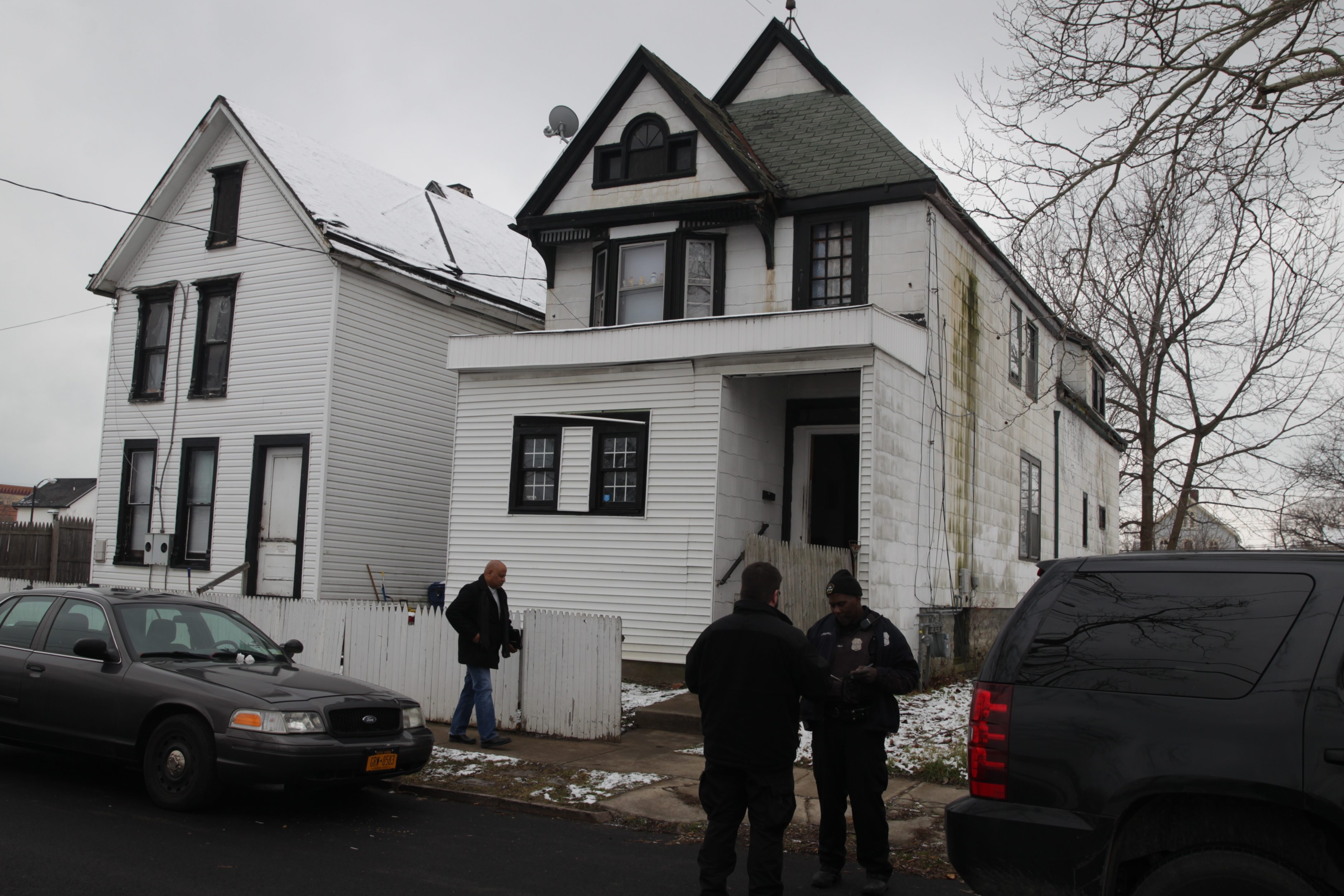 Buffalo Police and the Erie County medical examiner were on the scene at 212 Watson St., where a woman and a man were found dead.