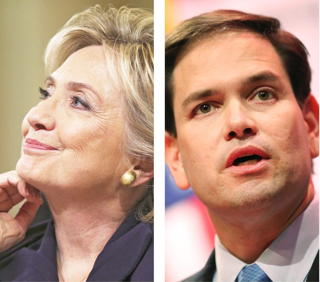 Clinton and Rubio fundraising