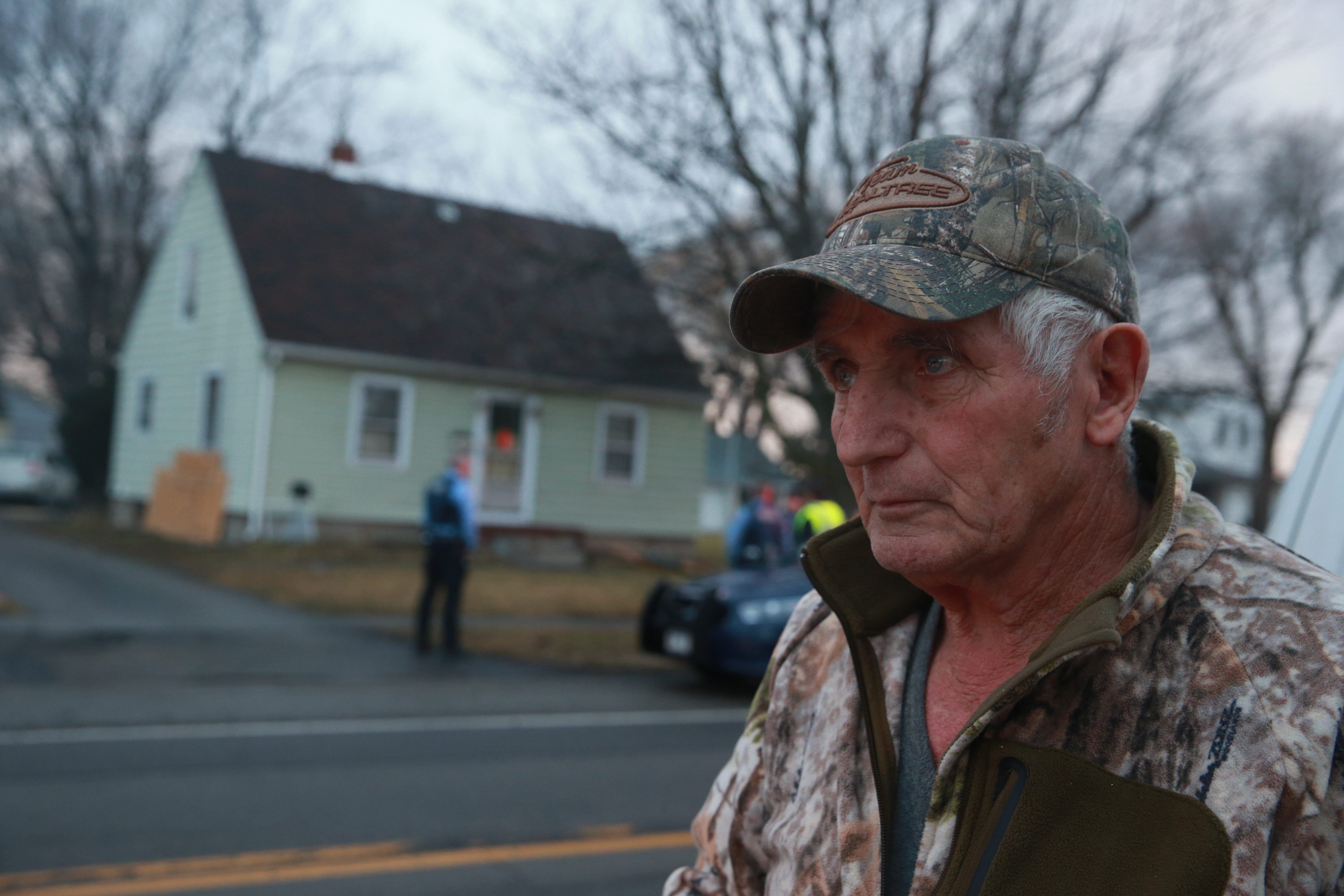 """""""I came in the living room and I saw a red light, and I thought the furnace blew out, but the side of the house blew. I called 911. They said get out of the house because the house was filling up with gas."""" – Gerald Ruhland, homeowner"""