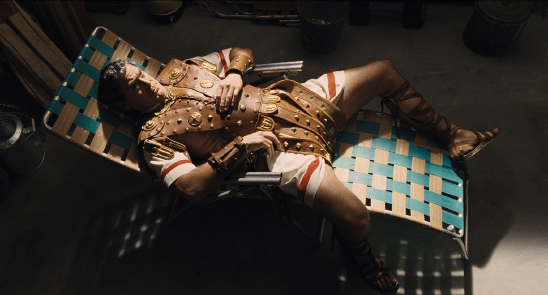 "George Clooney plays kidnapped 1950s movie star Baird Whitlock in ""Hail, Caesar!"""