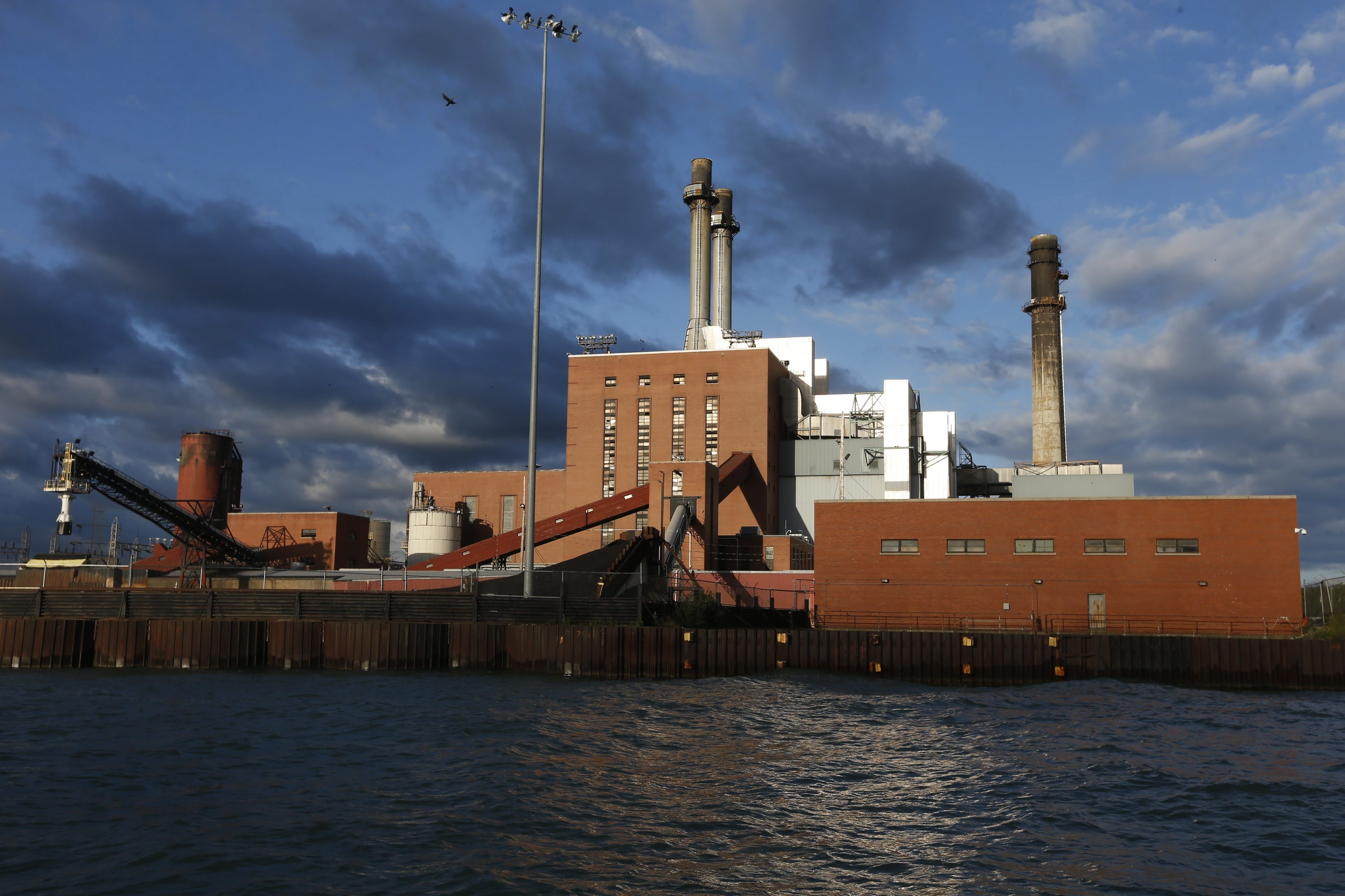 A view of the Dunkirk coal-powered generating station, where writer Sean Kirst's father worked. (Robert Kirkham/Buffalo News)