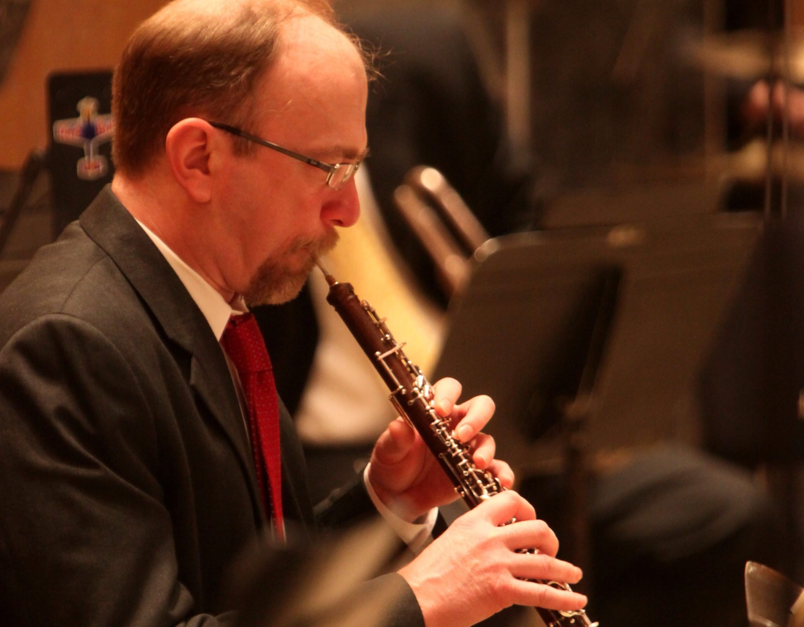 A 2011 file photo shows principal oboist Pierre Roy performing with the Buffalo Philharmonic Orchestra at Kleinhans.