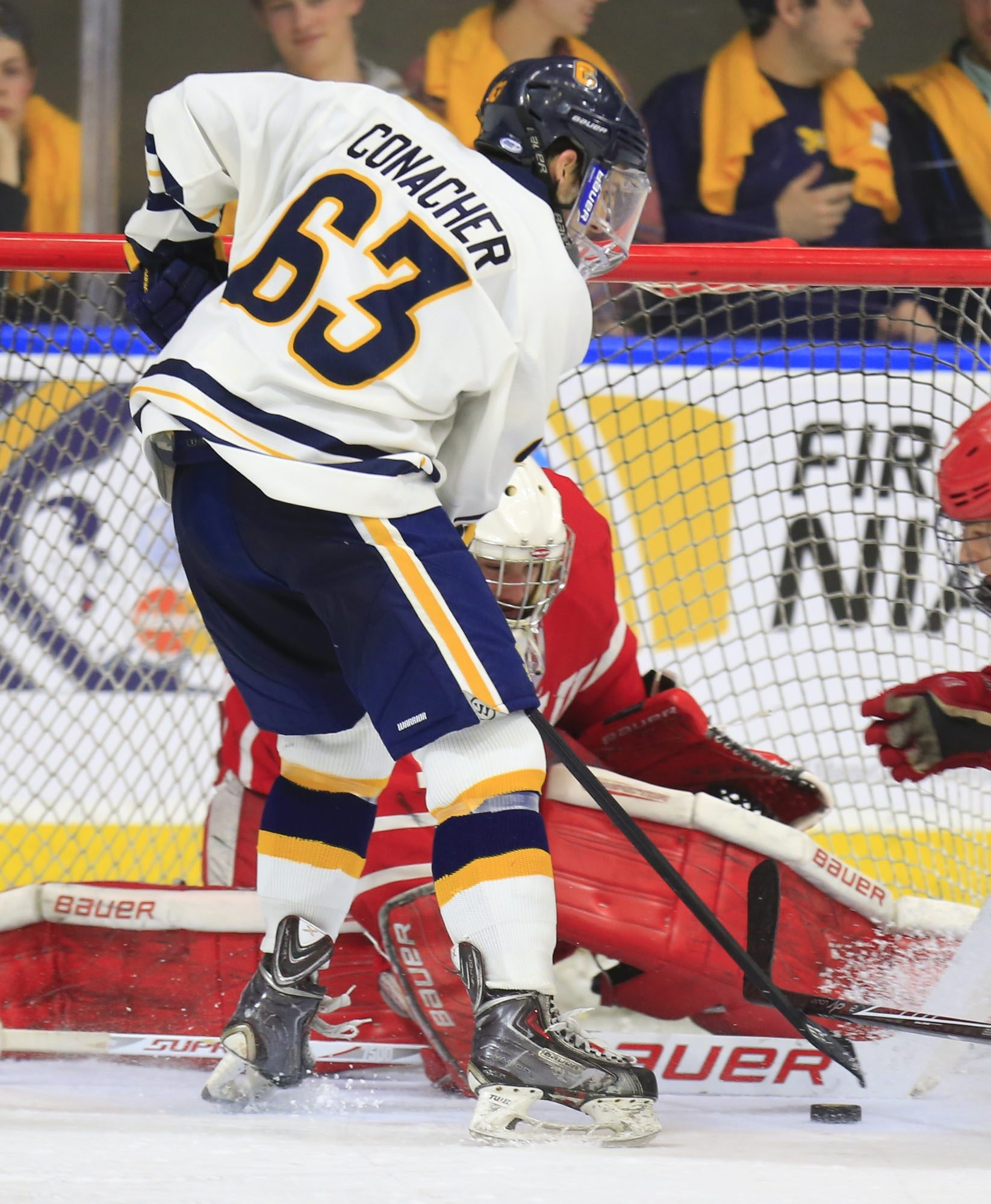 Shane Conacher needs one point to become the second Canisius junior to 100 for his career. The first? His brother Cory.(Harry Scull Jr./Buffalo News)