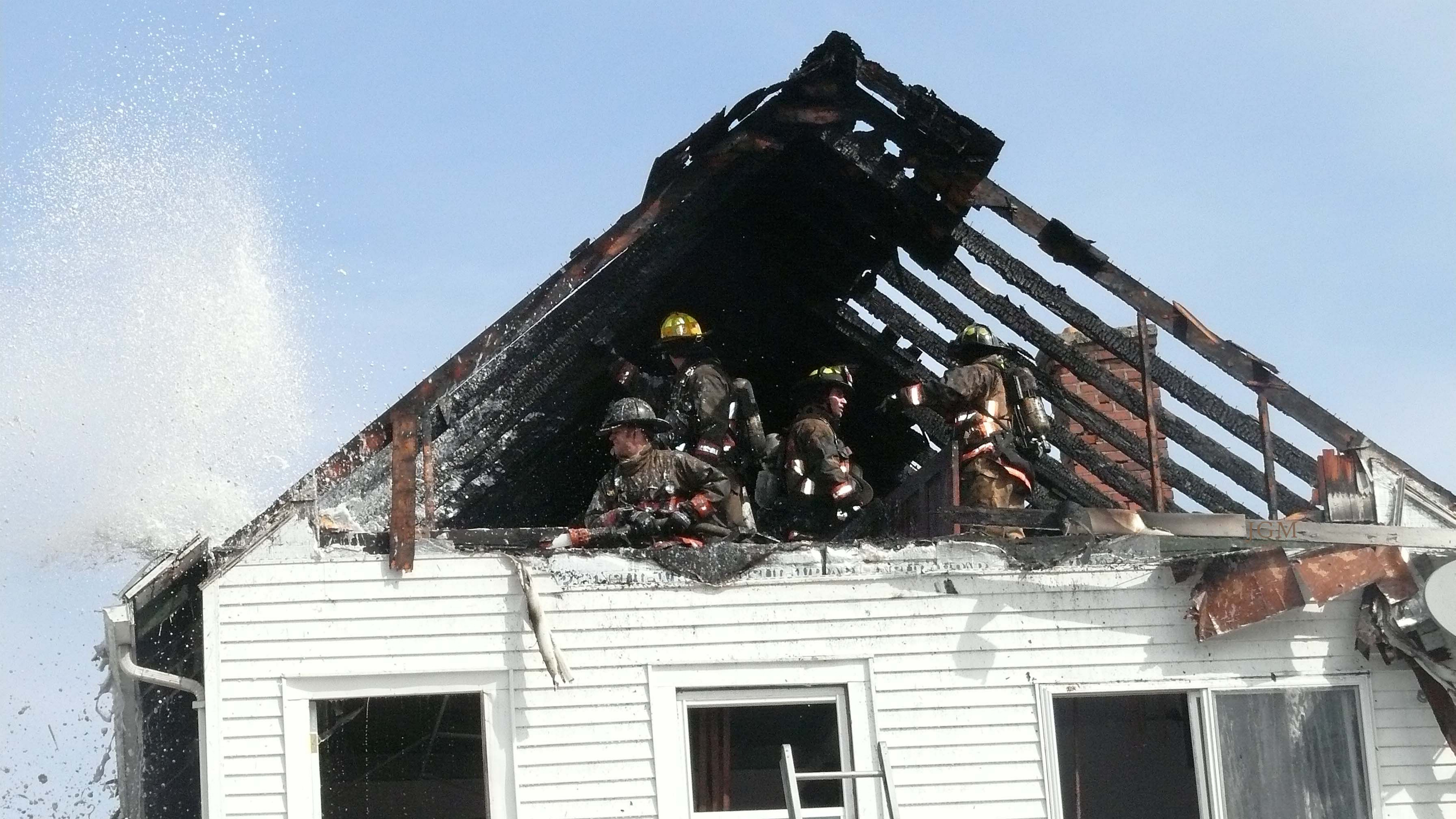 Buffalo firefighters at the scene of a fire at 101 Newfield on Feb. 28. (JoAnne McNamara/Special to The News)