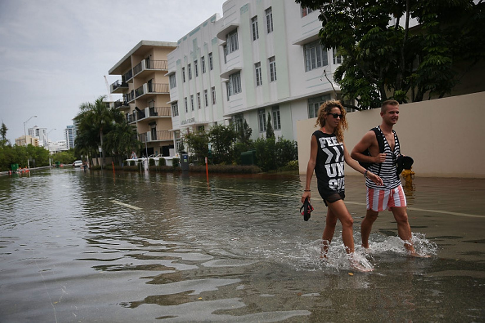 Miami Beach is just one coastal community facing an increasing problem with flooding. Climate change will make the problem worse. (Getty Images)