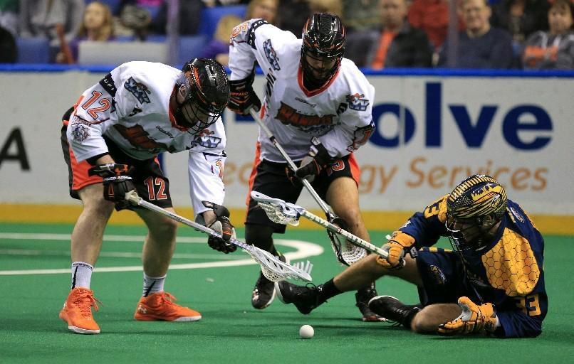The Bandits' Mitch de Snoo (12) has had an eventful rookie season. (Harry Scull Jr./Buffalo News).