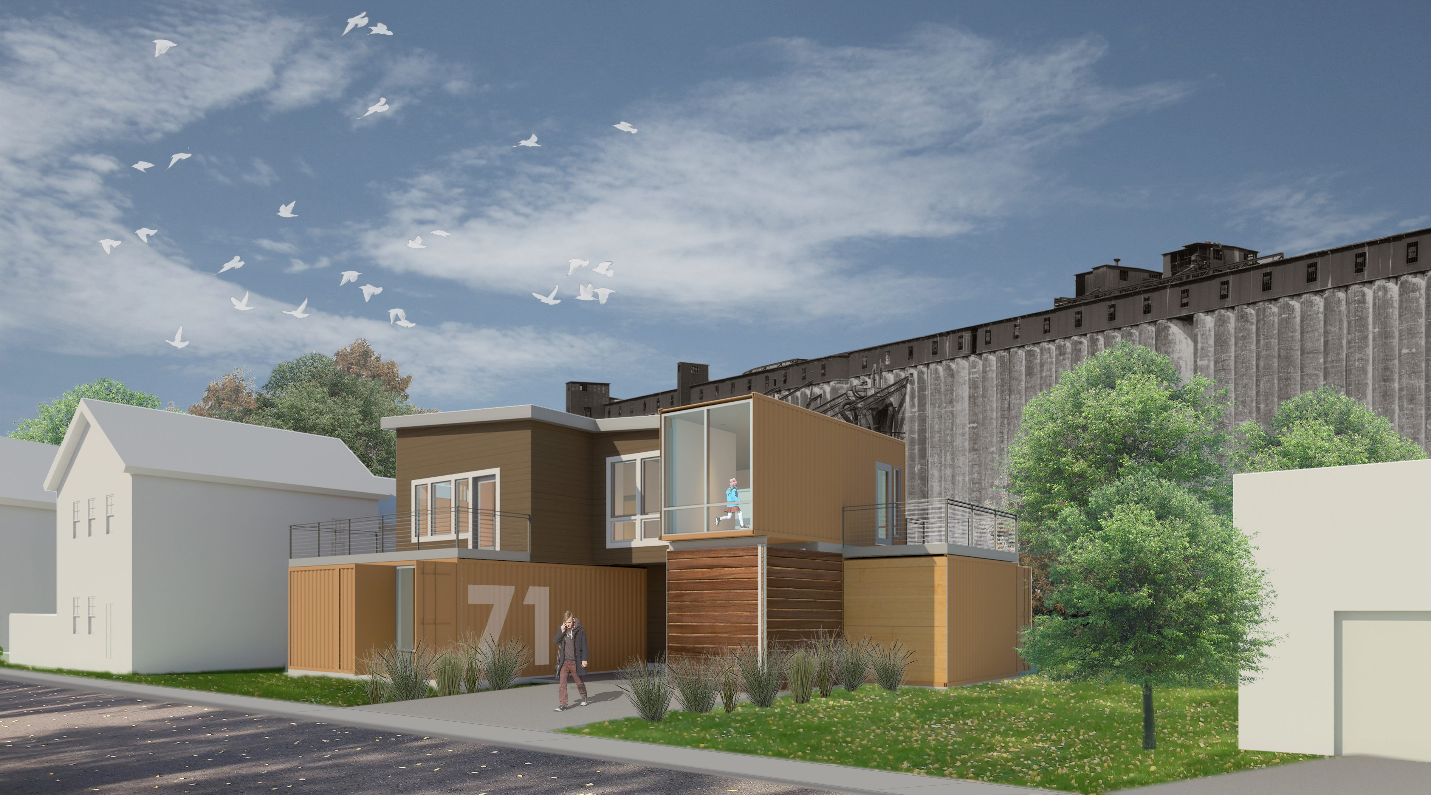 The Buffalo Planning Board approved plans for this home, which will be partially built out of five shipping containers. The site of the project is on Louisiana Street in the Old First Ward.