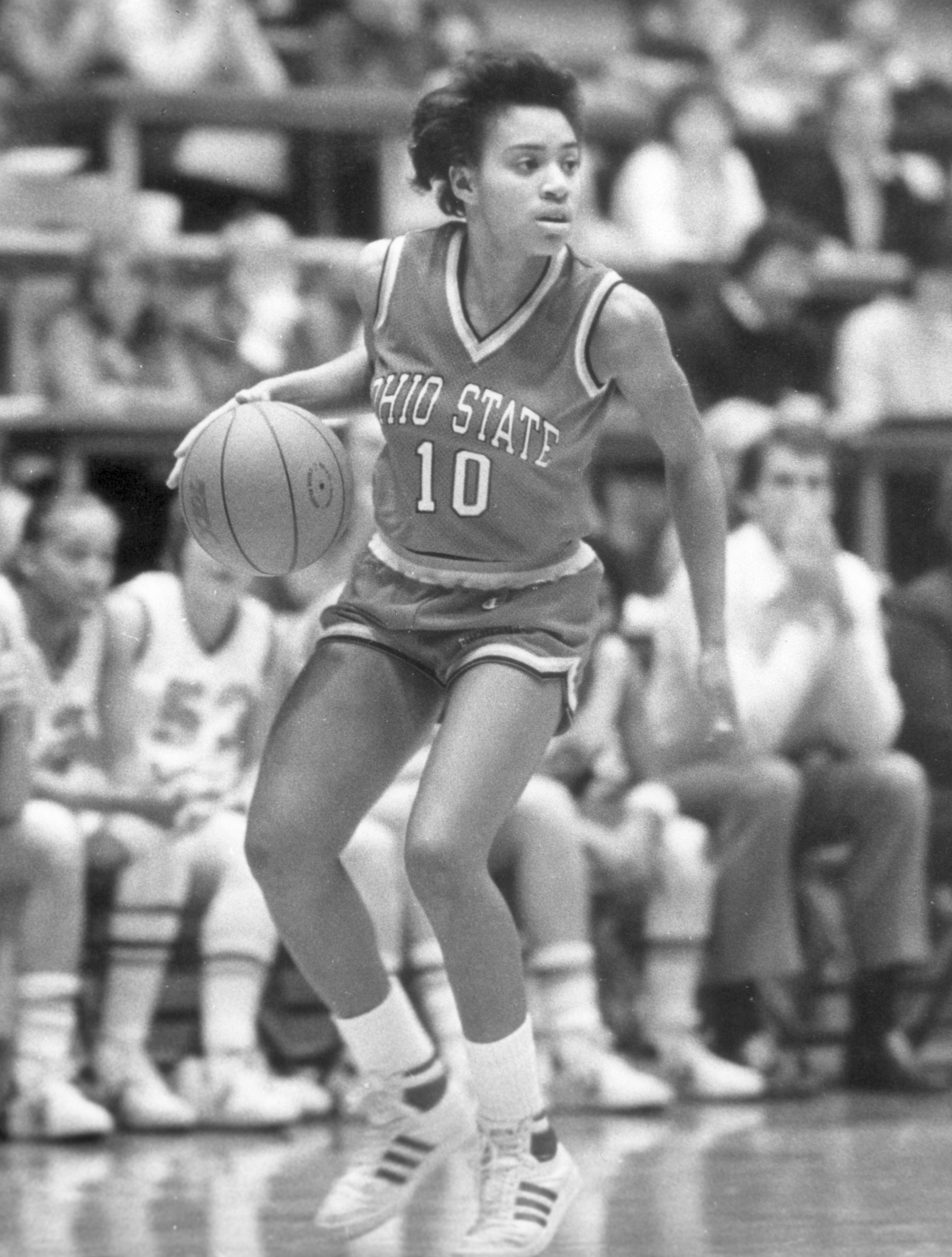 Yvette Angel still holds down places of prominence in the Ohio State record book.